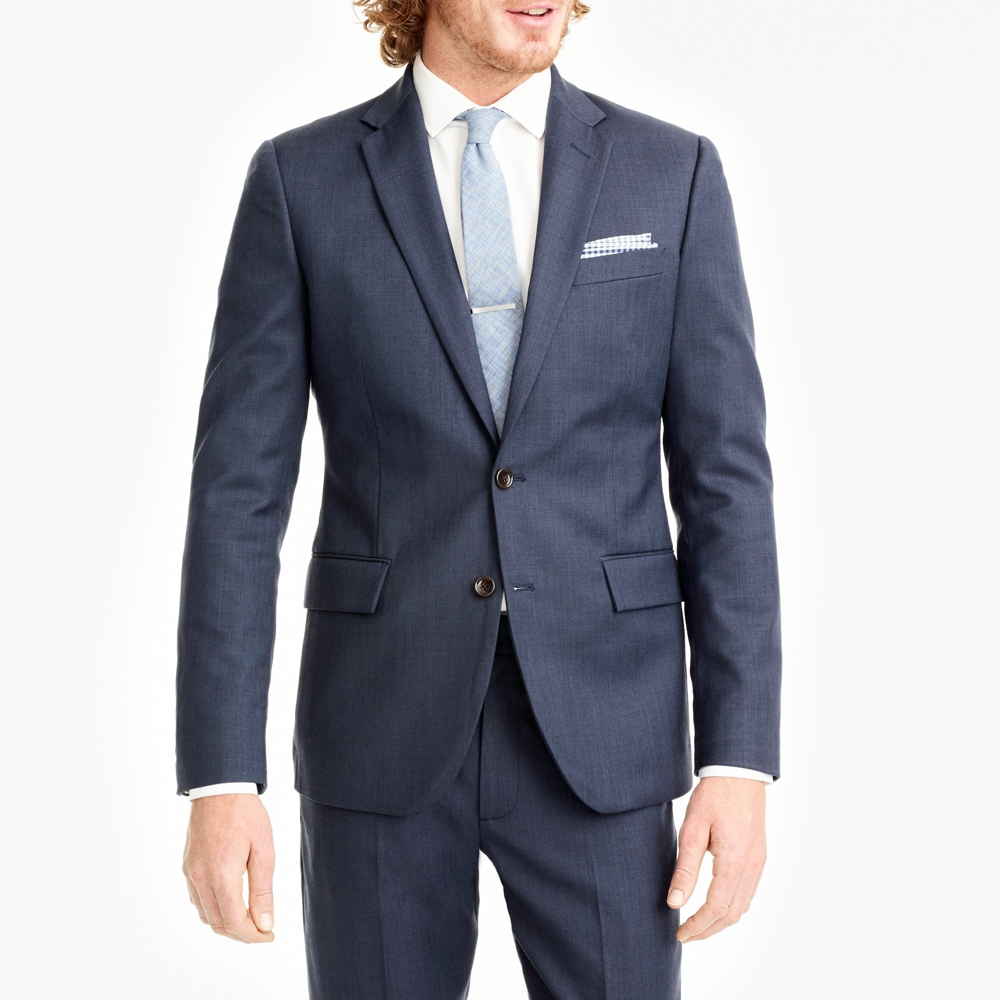 factory mens Classic-fit Thompson suit jacket in worsted wool