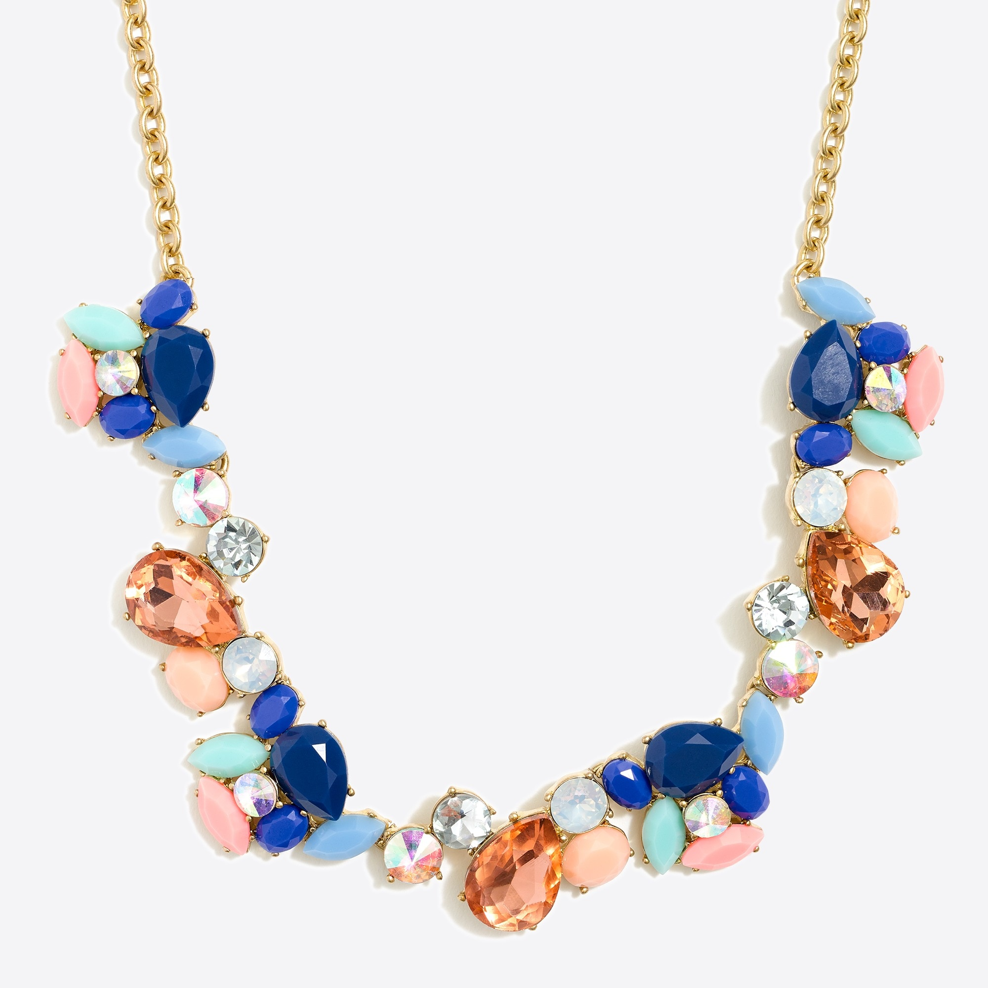 Crystal paint party necklace