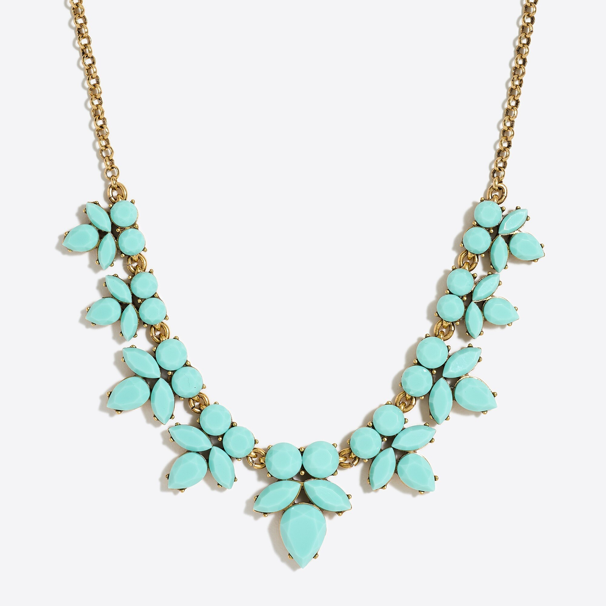 factory womens Gemstone petal necklace