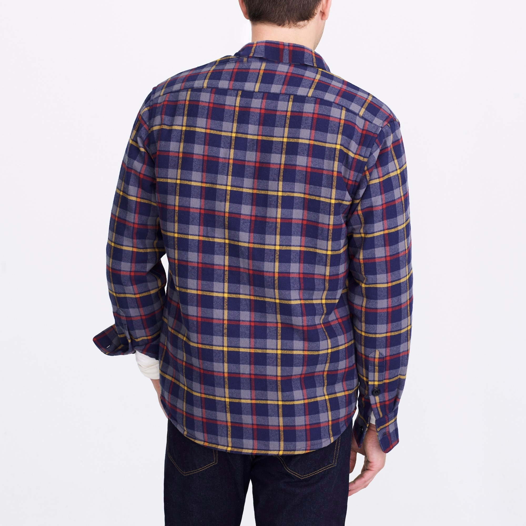 Image 3 for Sherpa-lined flannel jacket