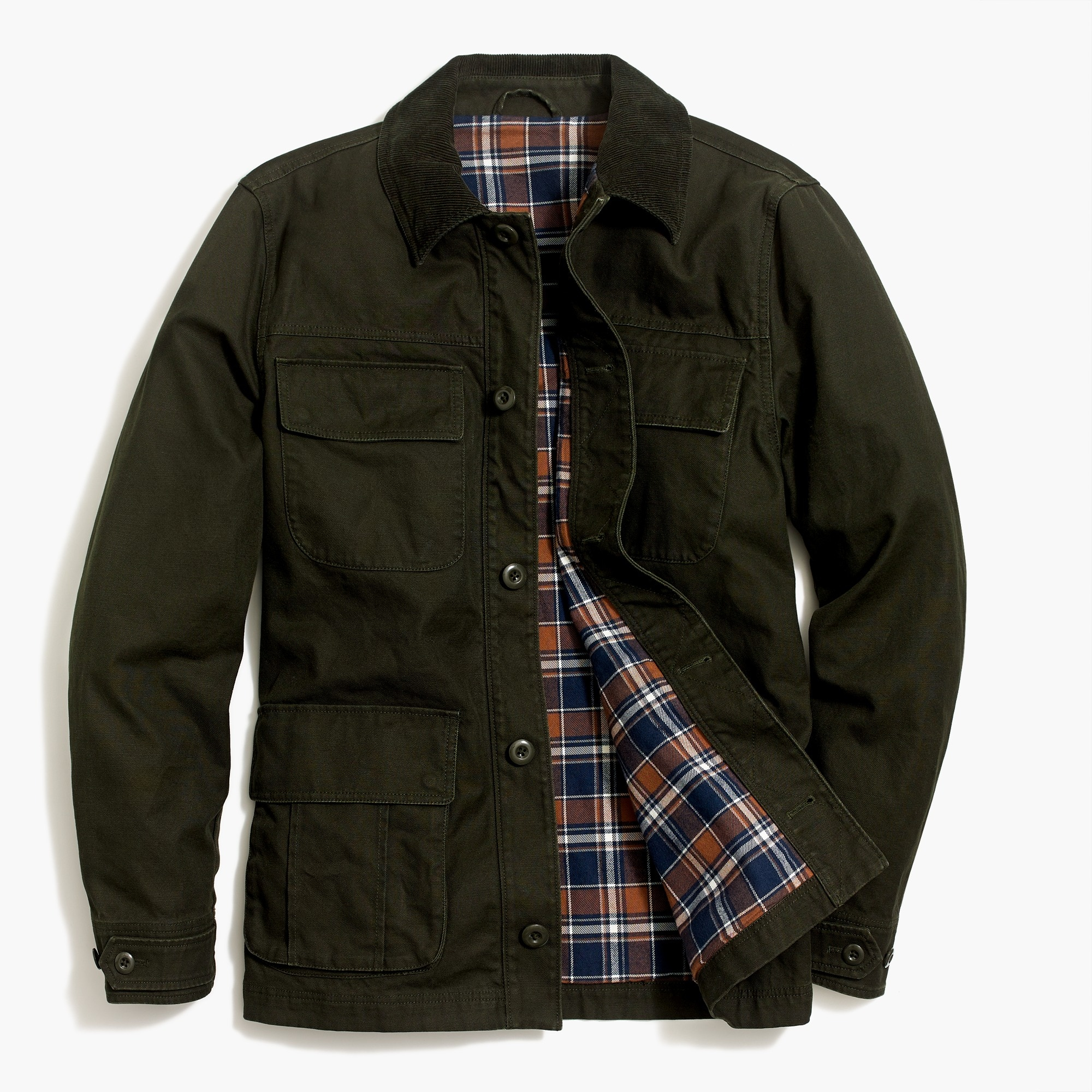 Image 3 for Flannel-lined barn jacket