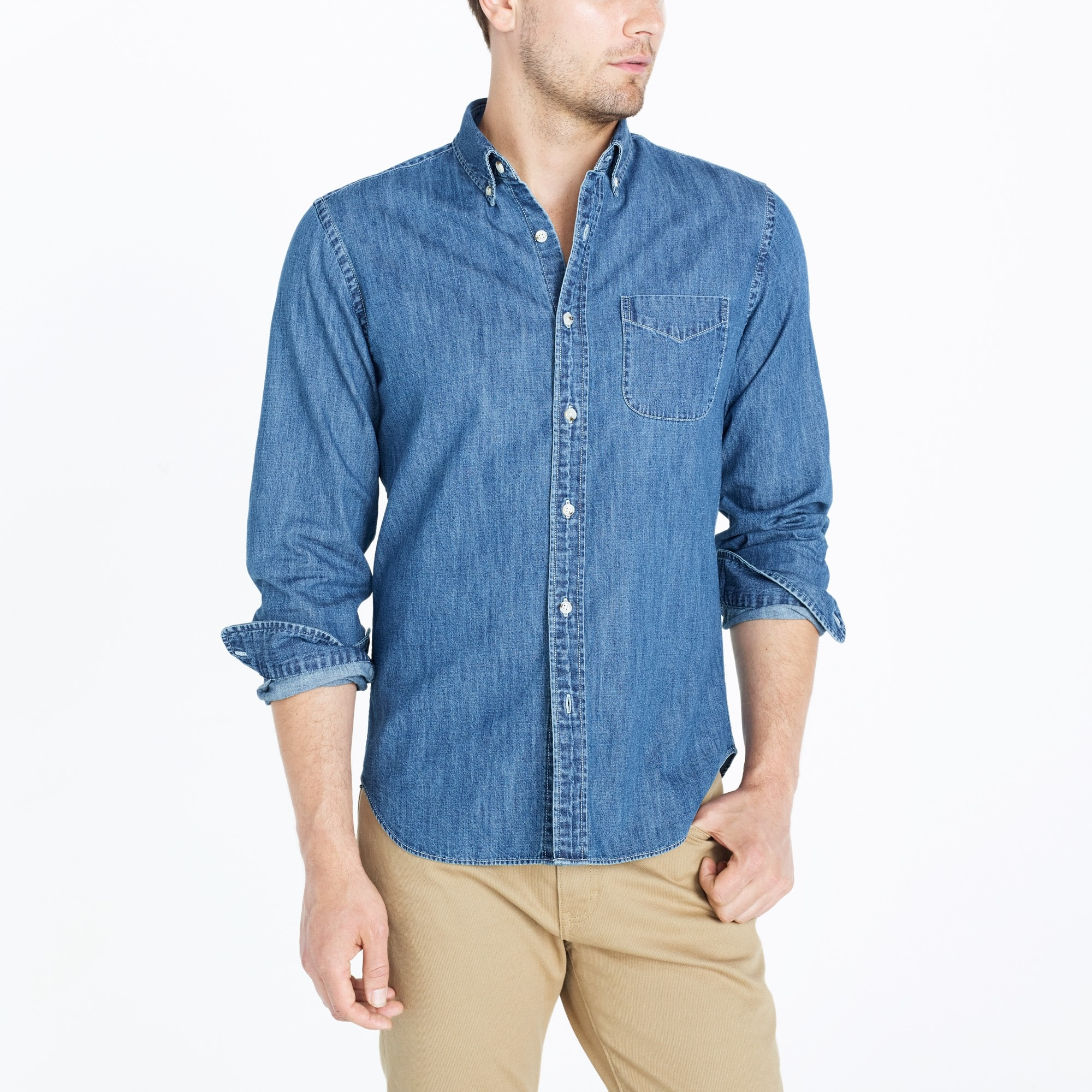 Lightweight denim workshirt
