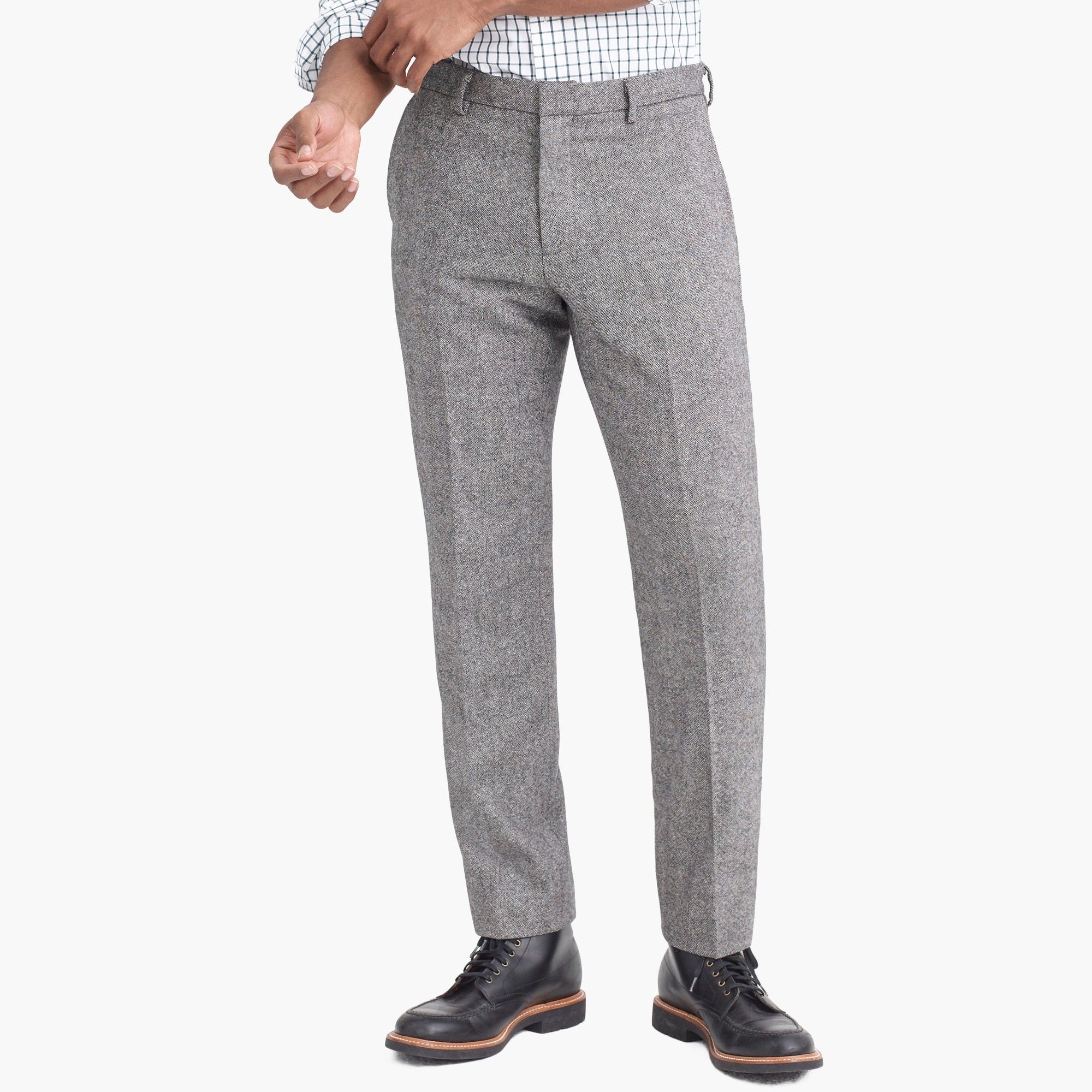 factory mens Slim-fit Thompson suit pant in Donegal wool