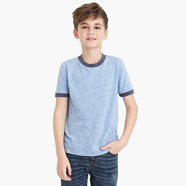 j.crew factory: boys' contrast ringer t-shirt in supersoft jersey