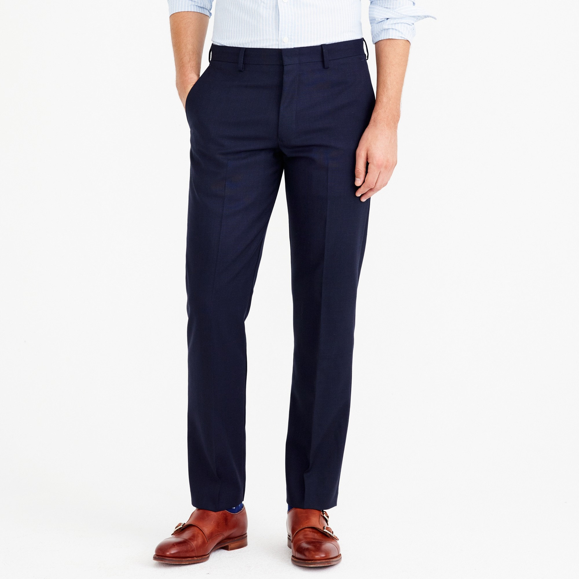 Classic-fit Thompson suit pant in Voyager wool factorymen thompson suits & blazers c