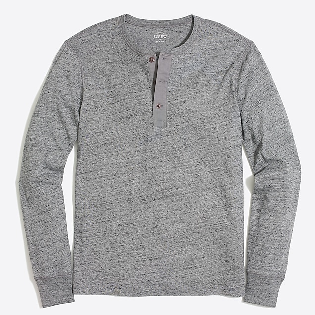 j.crew factory: tall long-sleeve heathered cotton henley