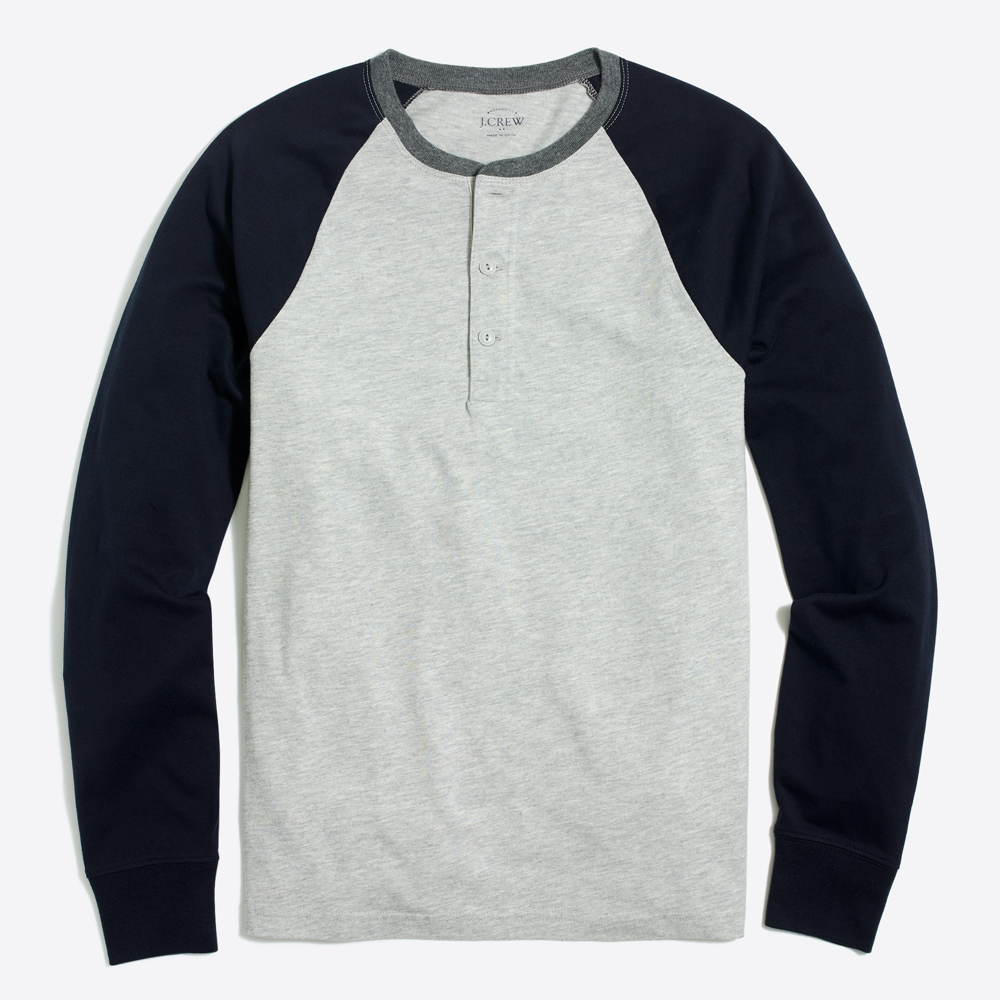 Image 1 for Long-sleeve baseball henley