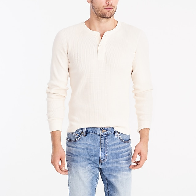 j.crew factory: long-sleeve thermal henley