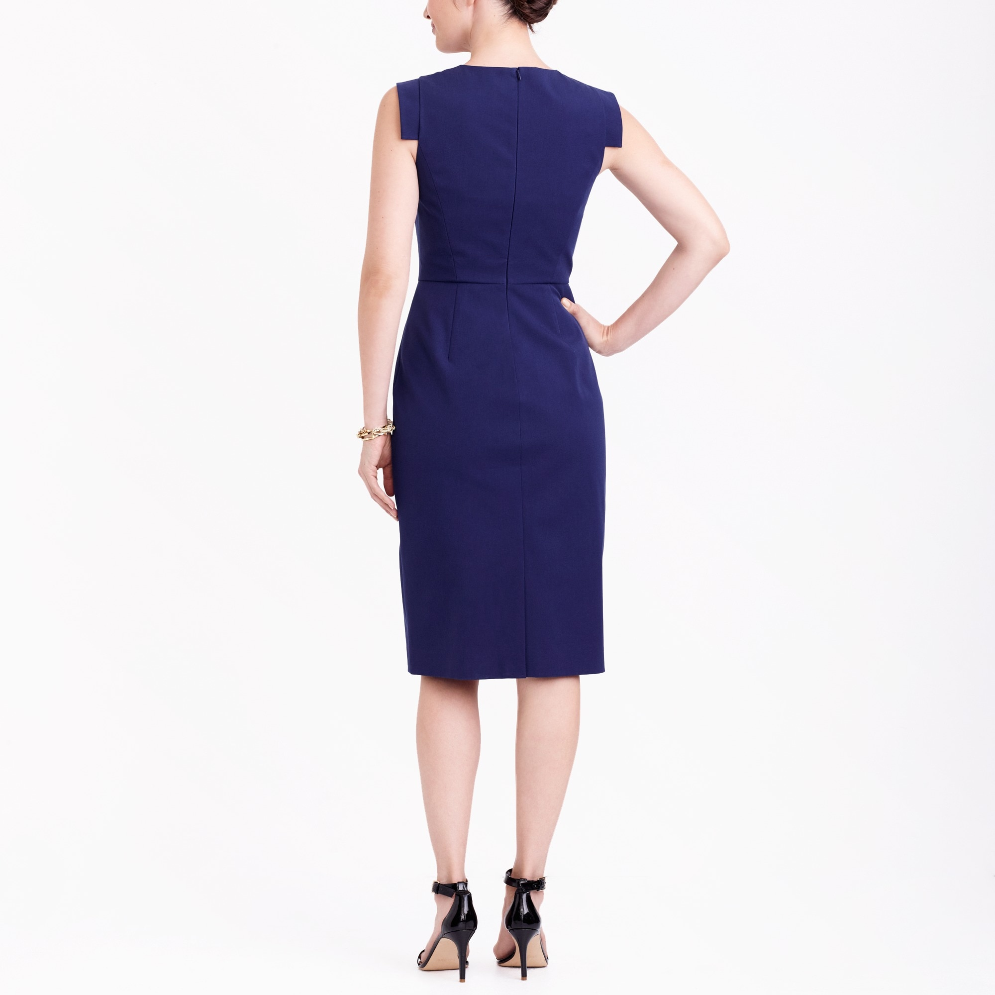 Image 3 for Cap-sleeve sheath dress