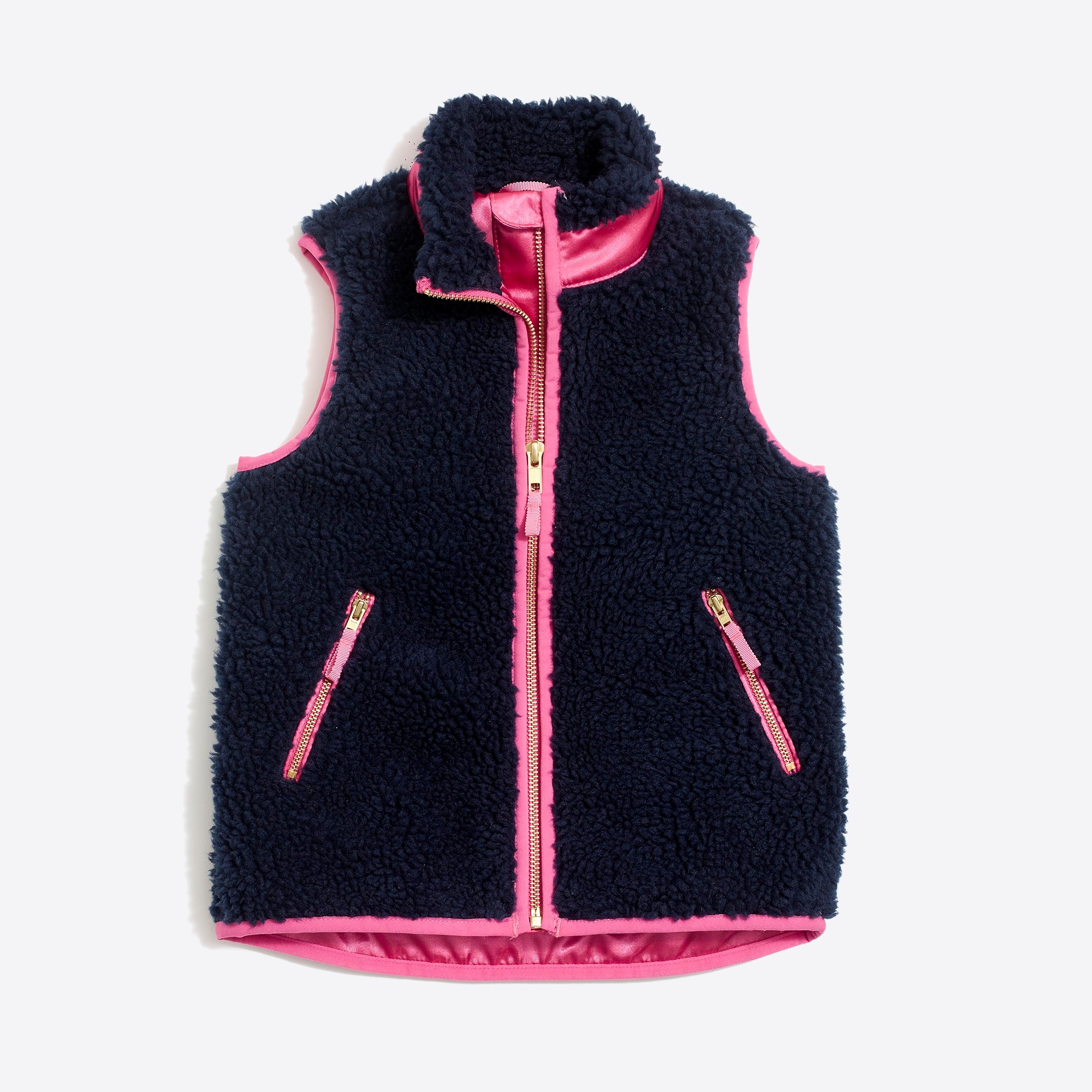 factory girls Girls' sherpa vest