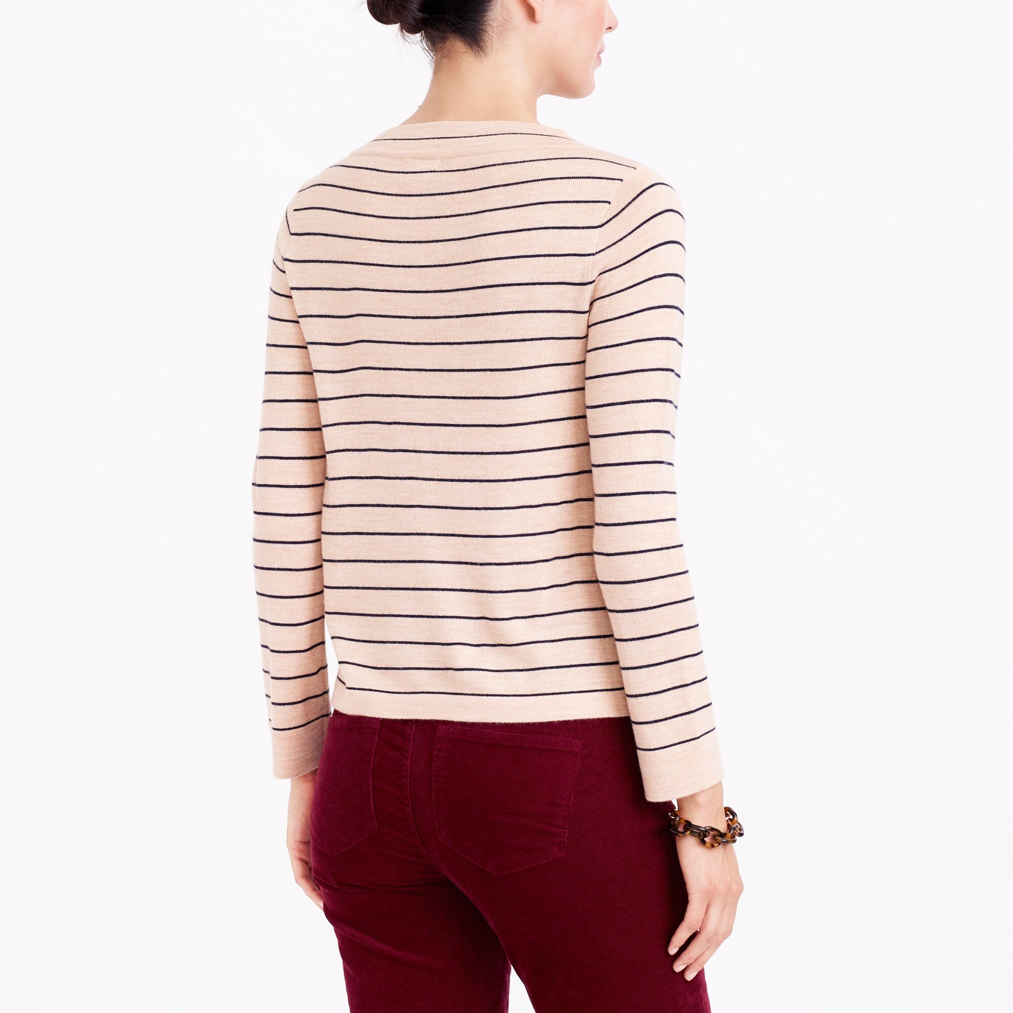 Image 3 for Striped funnelneck sweater