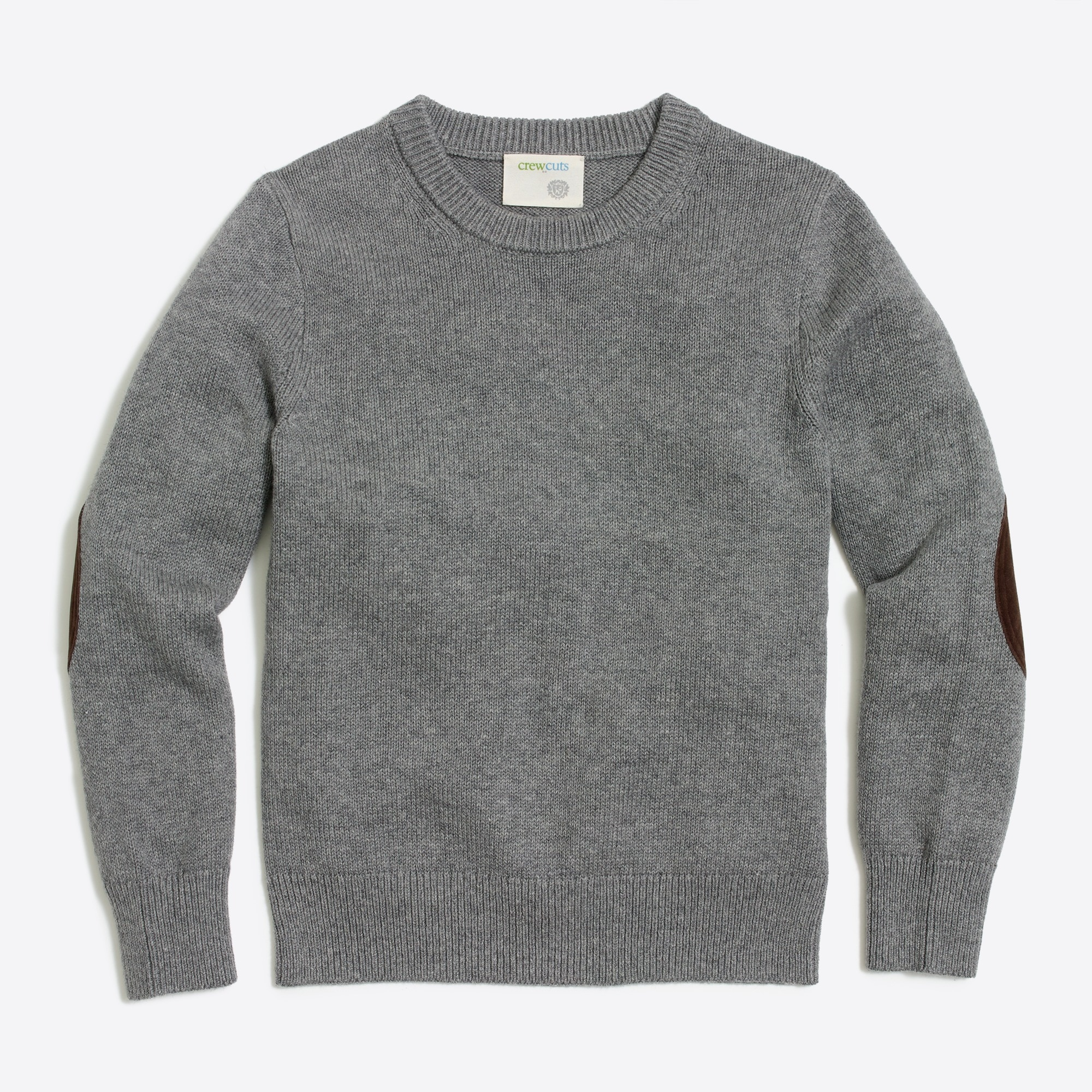 Image 2 for Boys' elbow-patch crewneck sweater