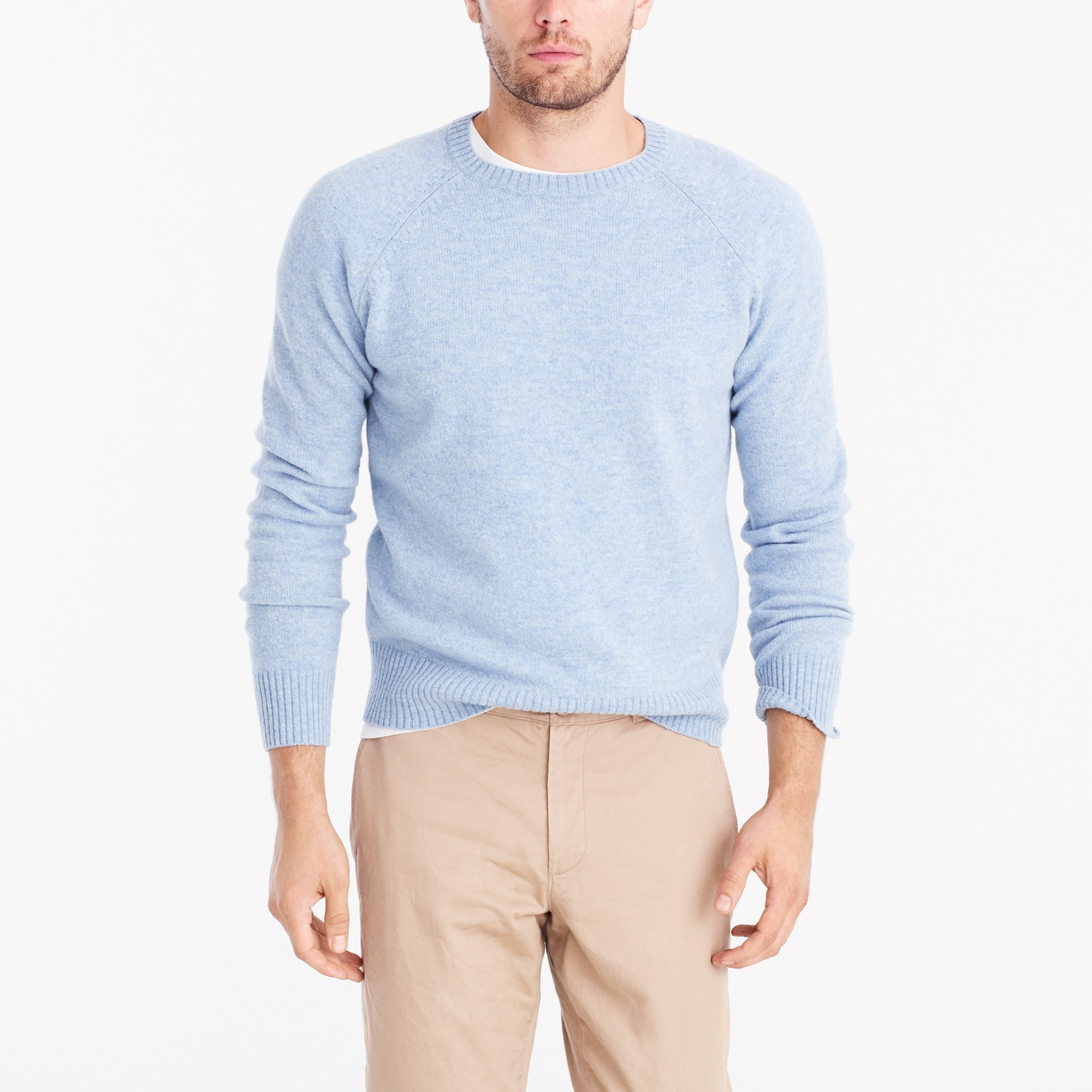 lambswool crewneck sweater : factorymen extra-nice list deals