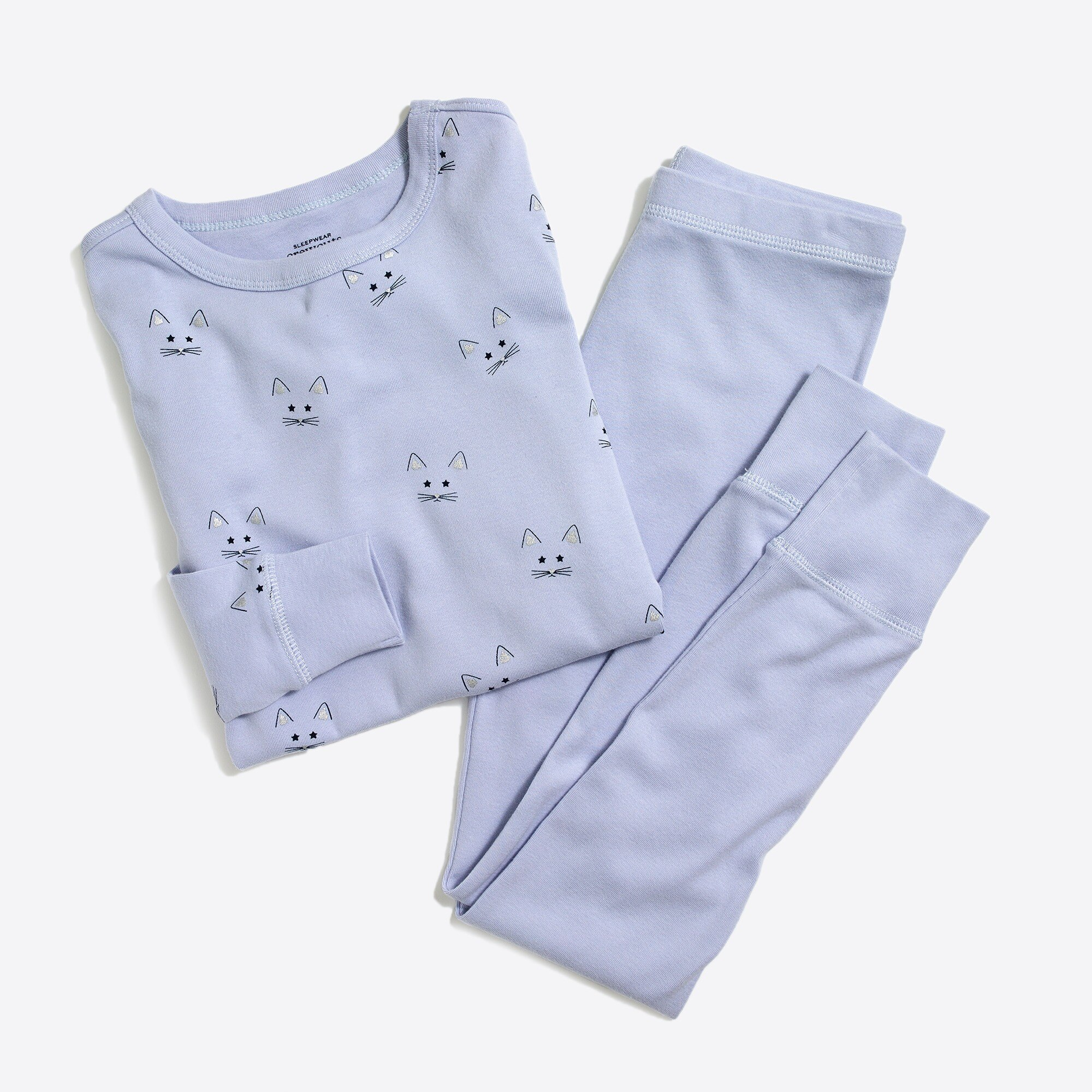 Image 1 for Girls' kitty pajama set