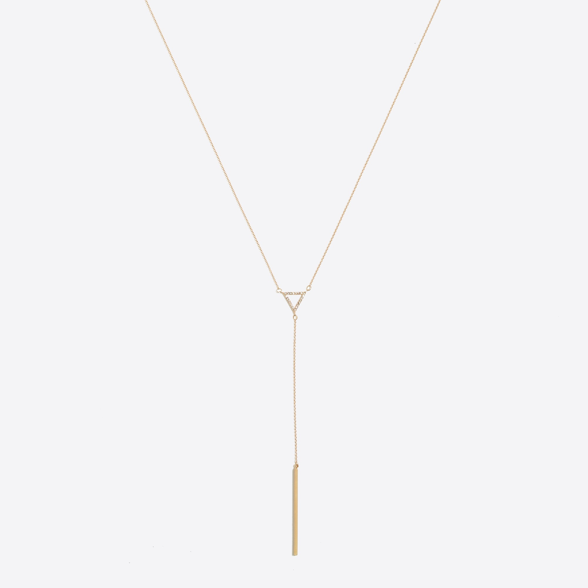 pavé triangle y-necklace : factorywomen necklaces