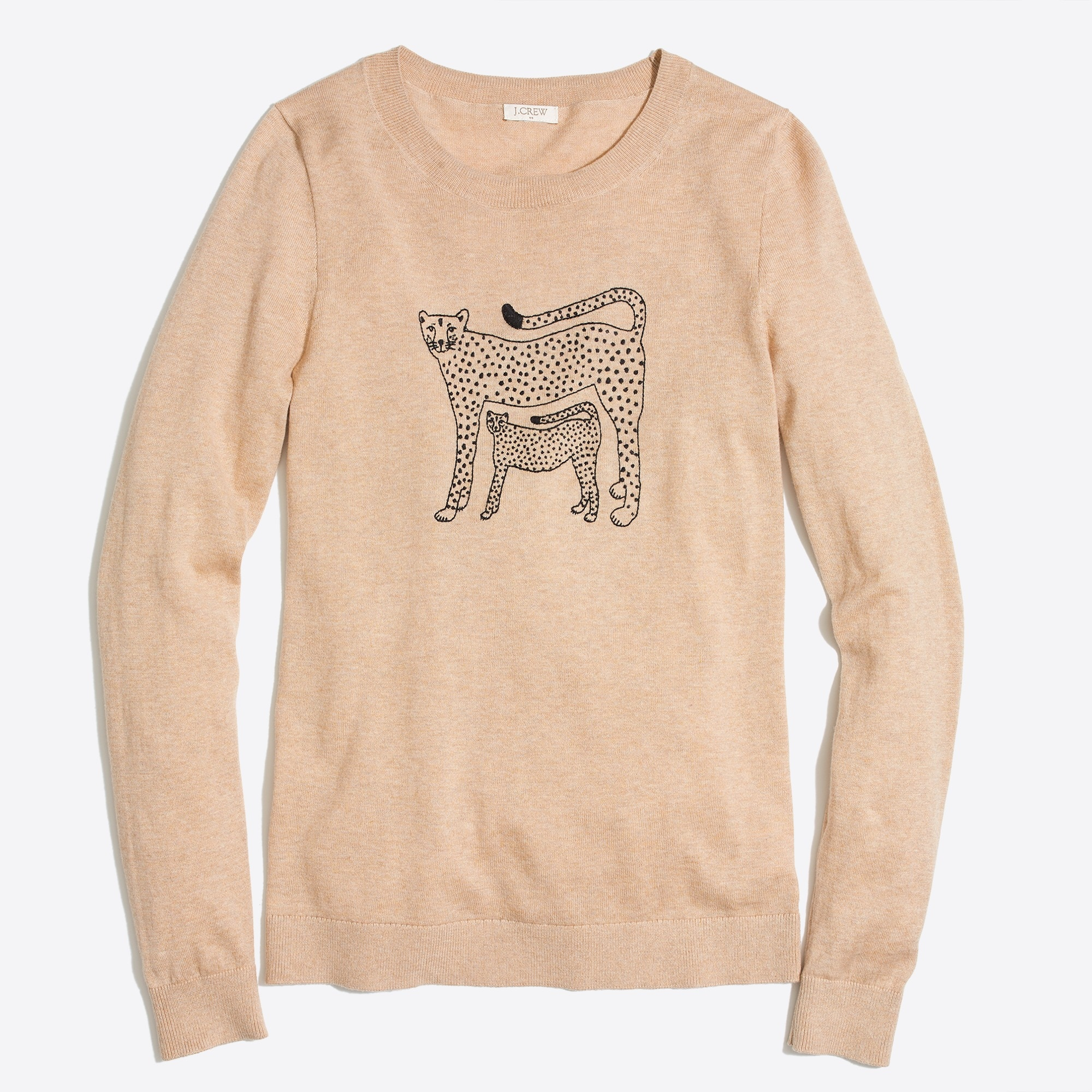 Image 2 for Embroidered cheetah Teddie sweater