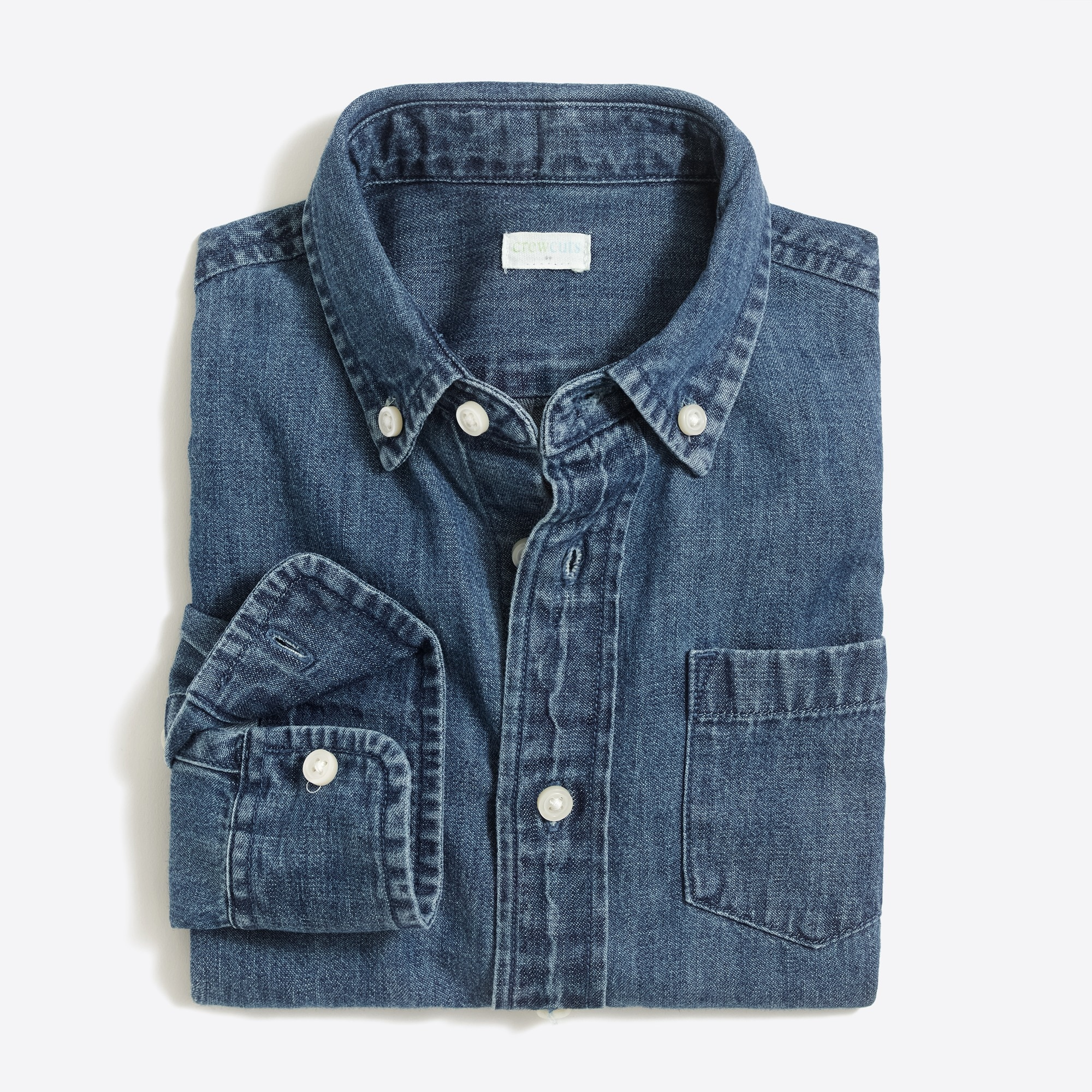 boys' long-sleeve chambray shirt : factoryboys chambray