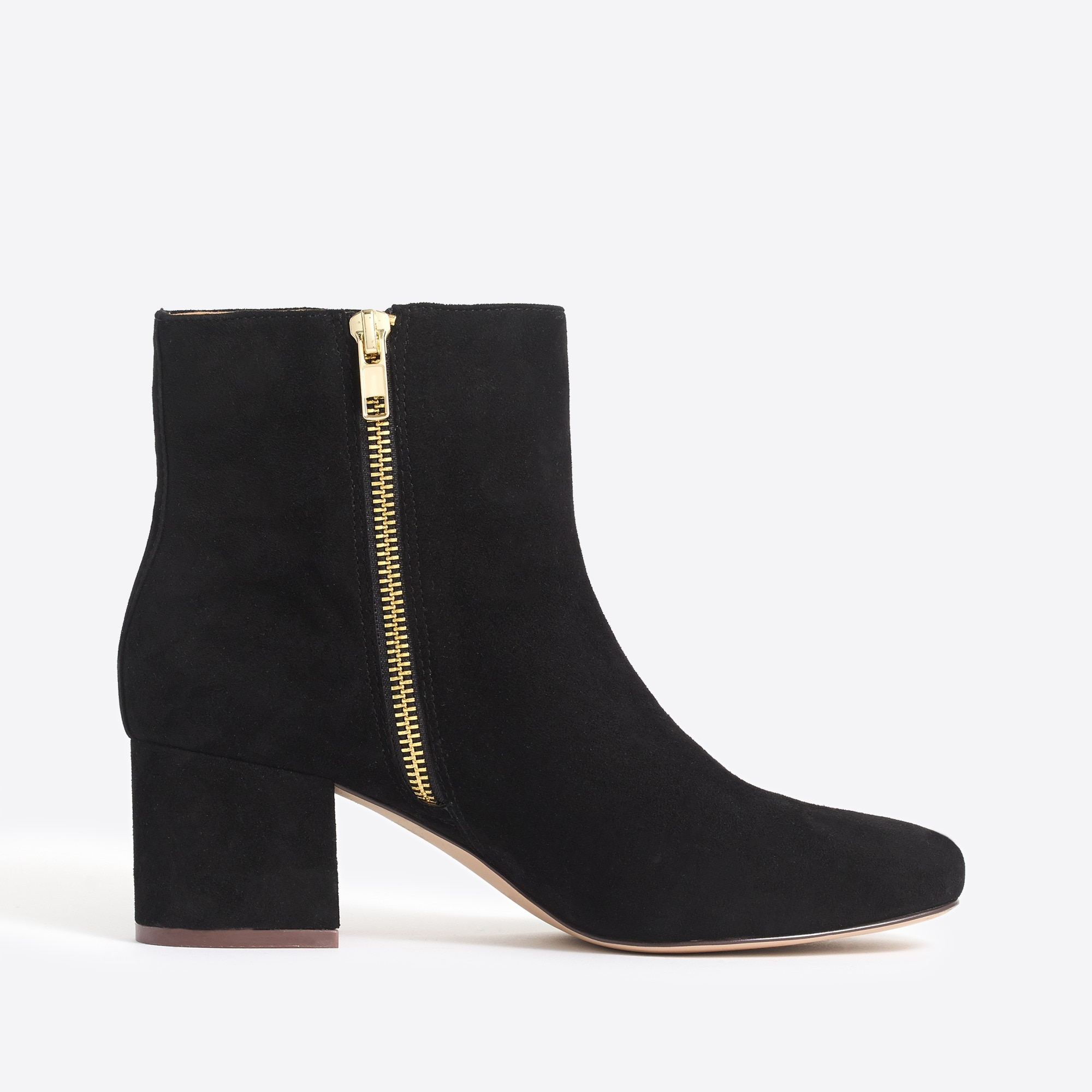 Image 2 for Suede block heel bootie