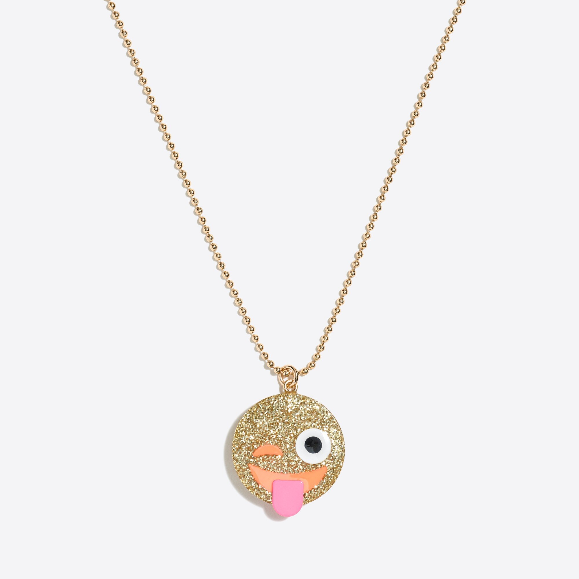 Girls' emoji pendant necklace factorygirls jewelry & accessories c