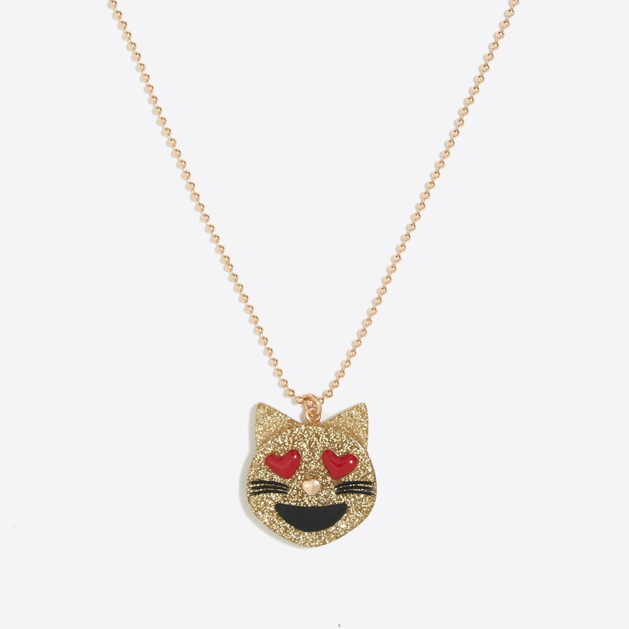 Girls' emoji pendant necklace