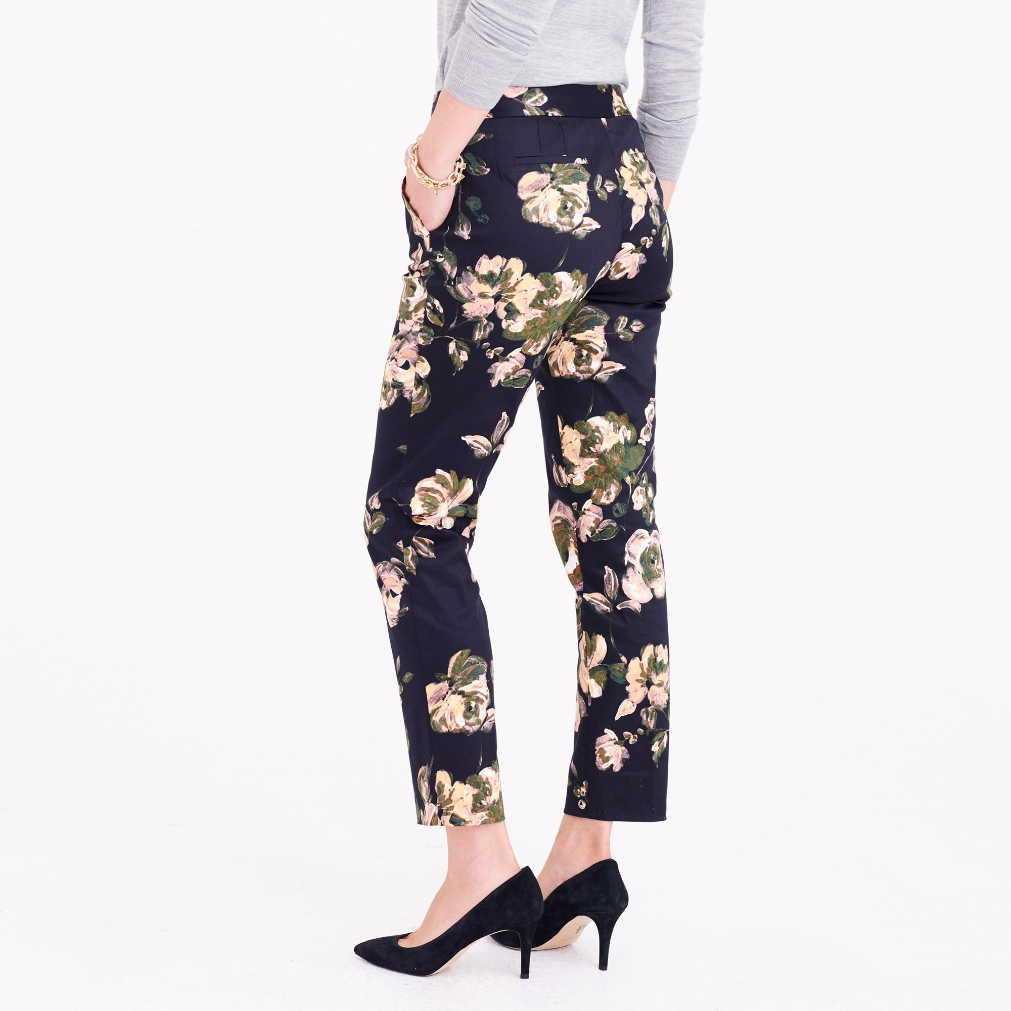 Image 3 for Slim crop printed pant