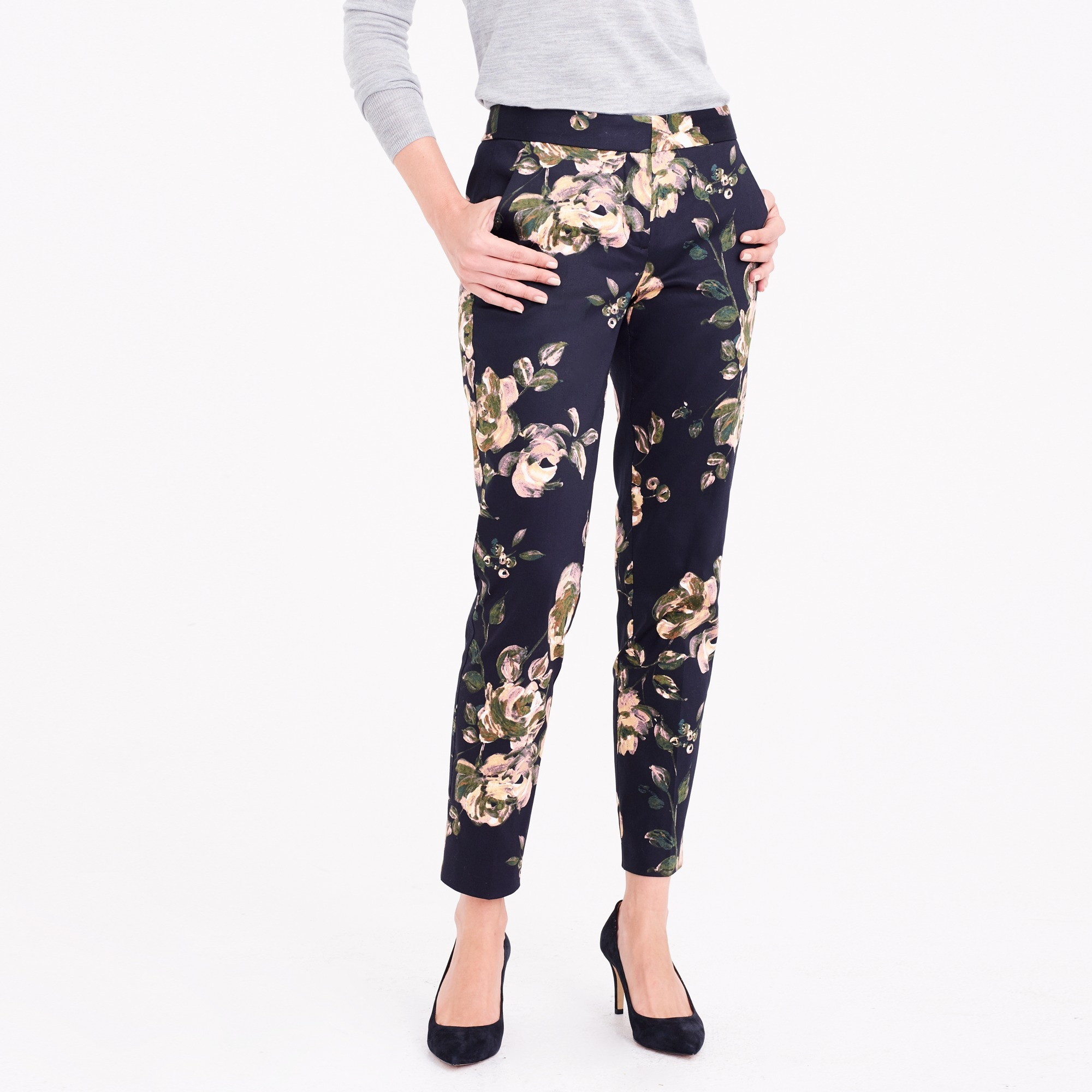Slim crop printed pant