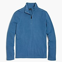 Image 2 for Sueded cotton jersey half-zip pullover