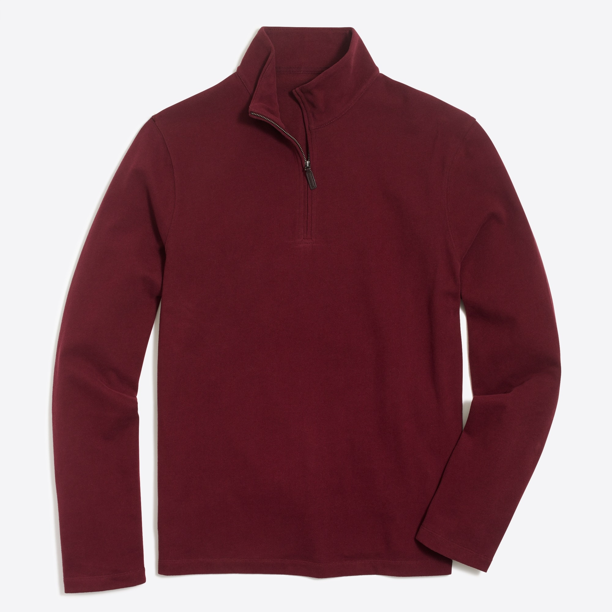 Sueded cotton jersey half-zip pullover