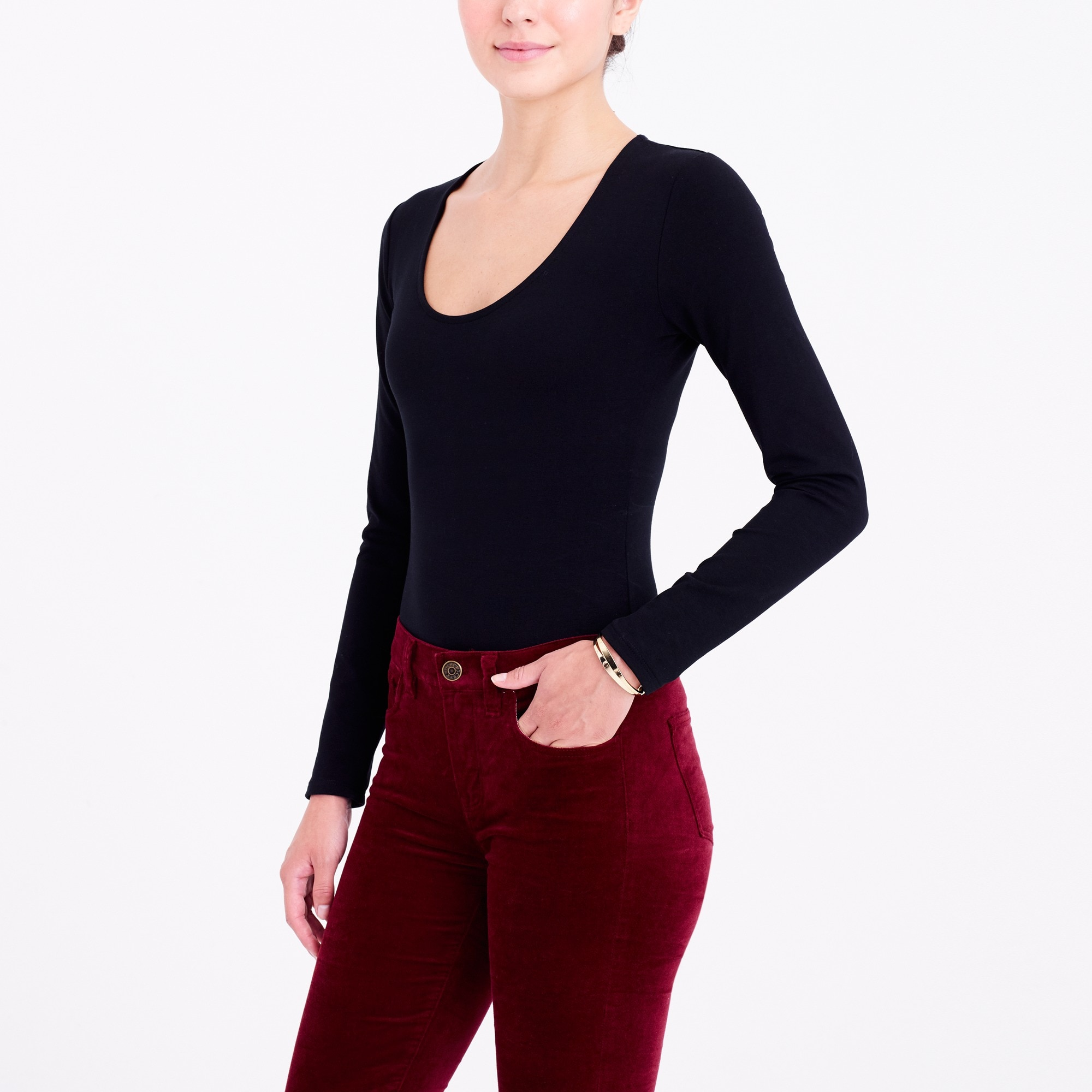 long-sleeve bodysuit : factorywomen long sleeve