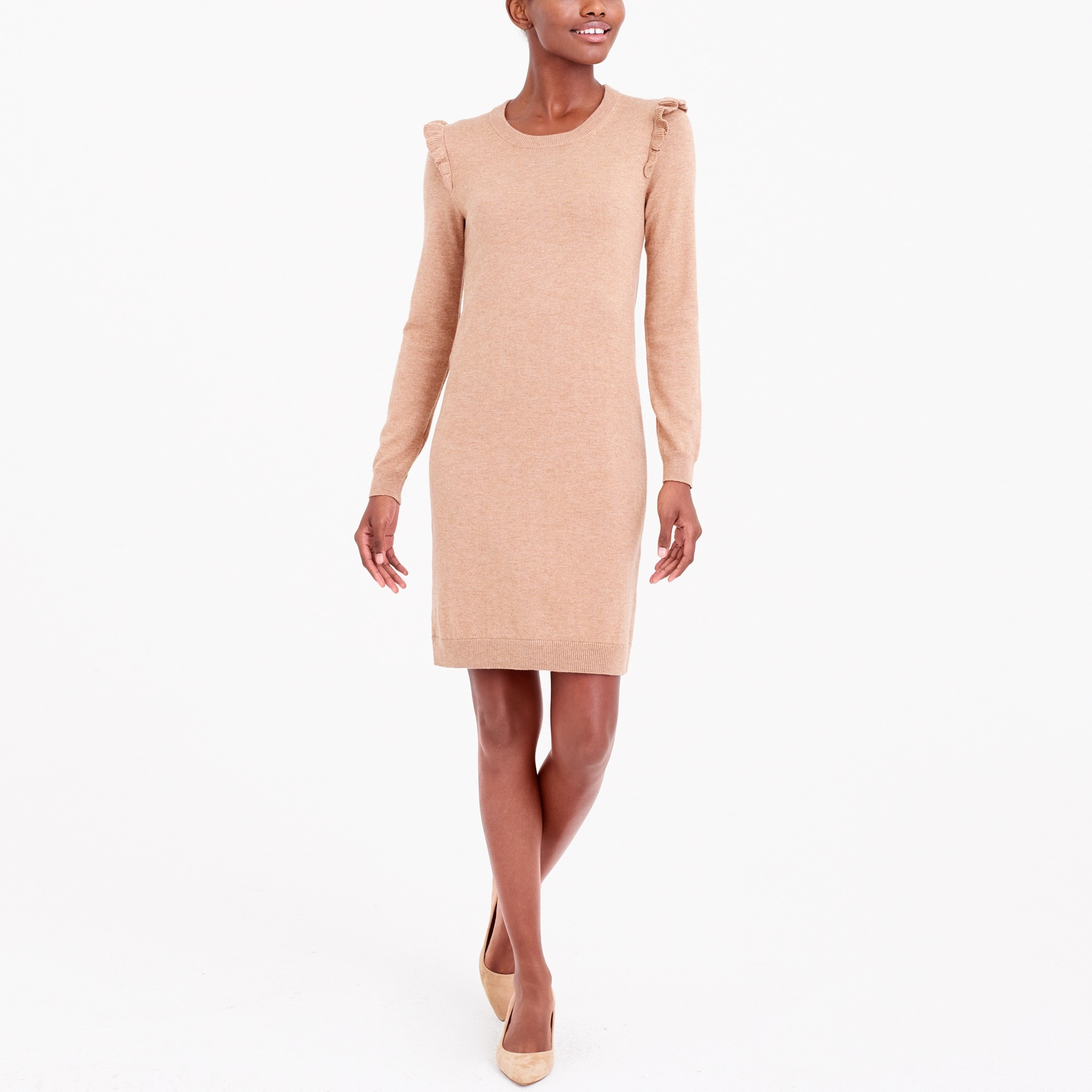 Image 1 for Ruffle-hem sweater dress