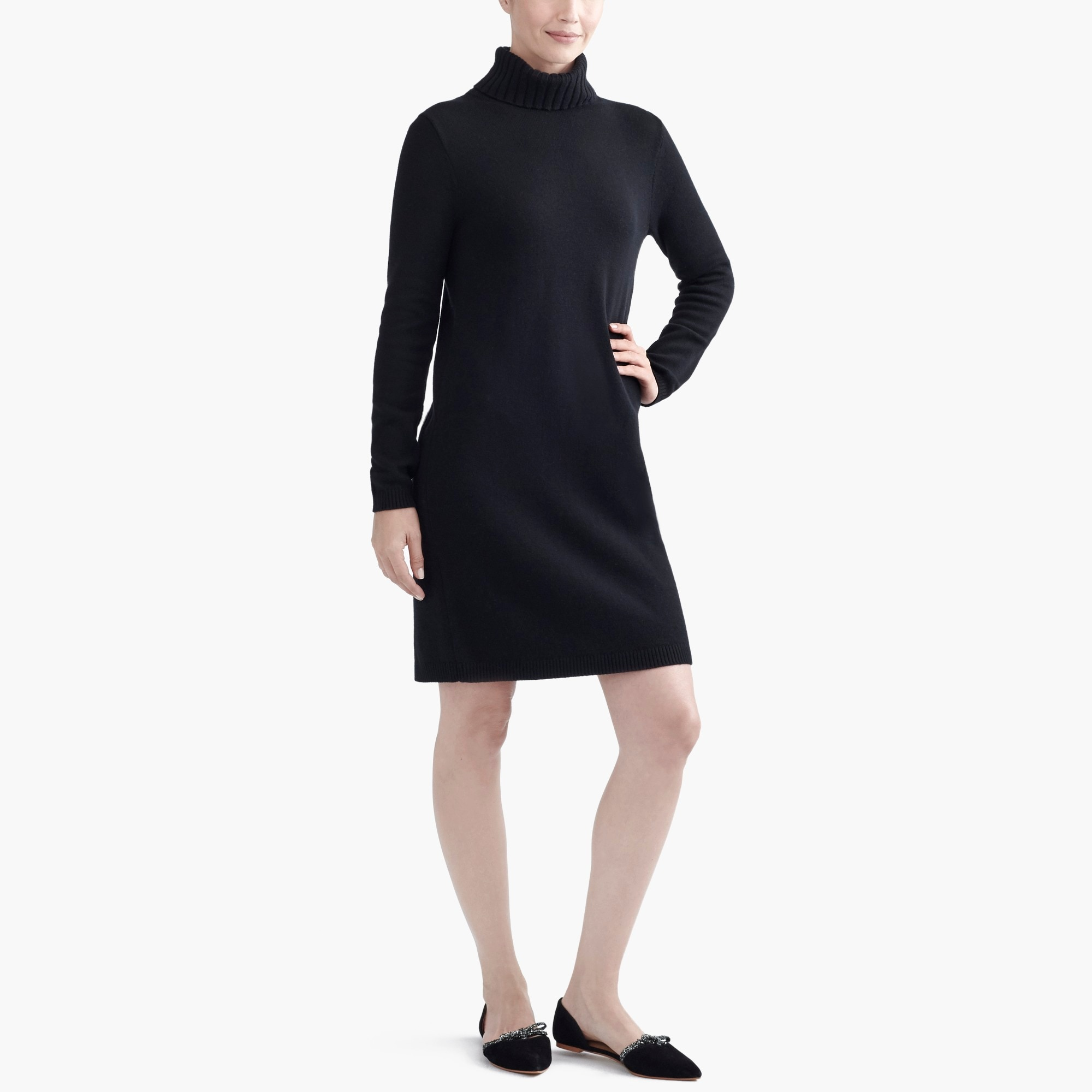 turtleneck sweater dress : factorywomen casual