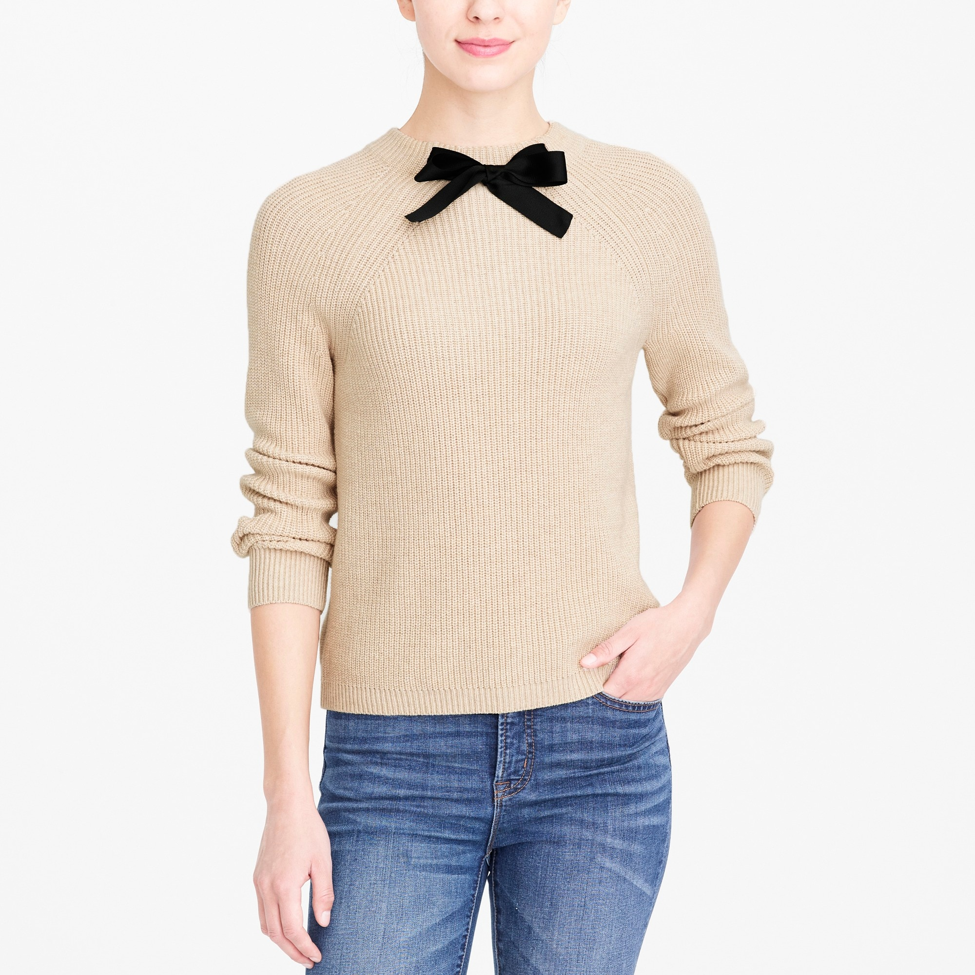j.crew factory: bow-neck sweater