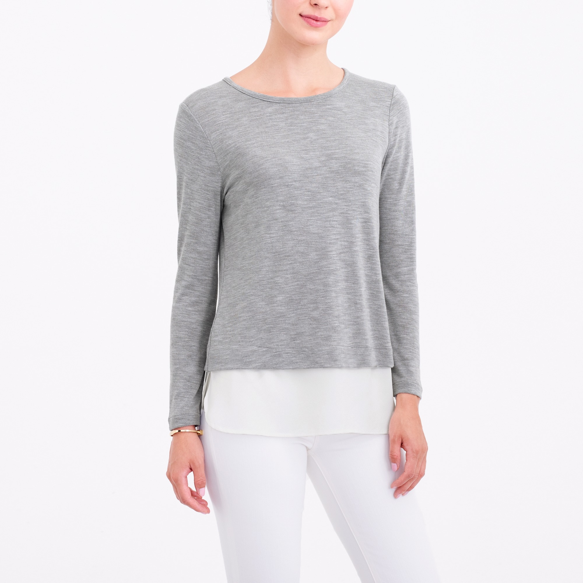 long-sleeve drapey t-shirt : women long sleeve
