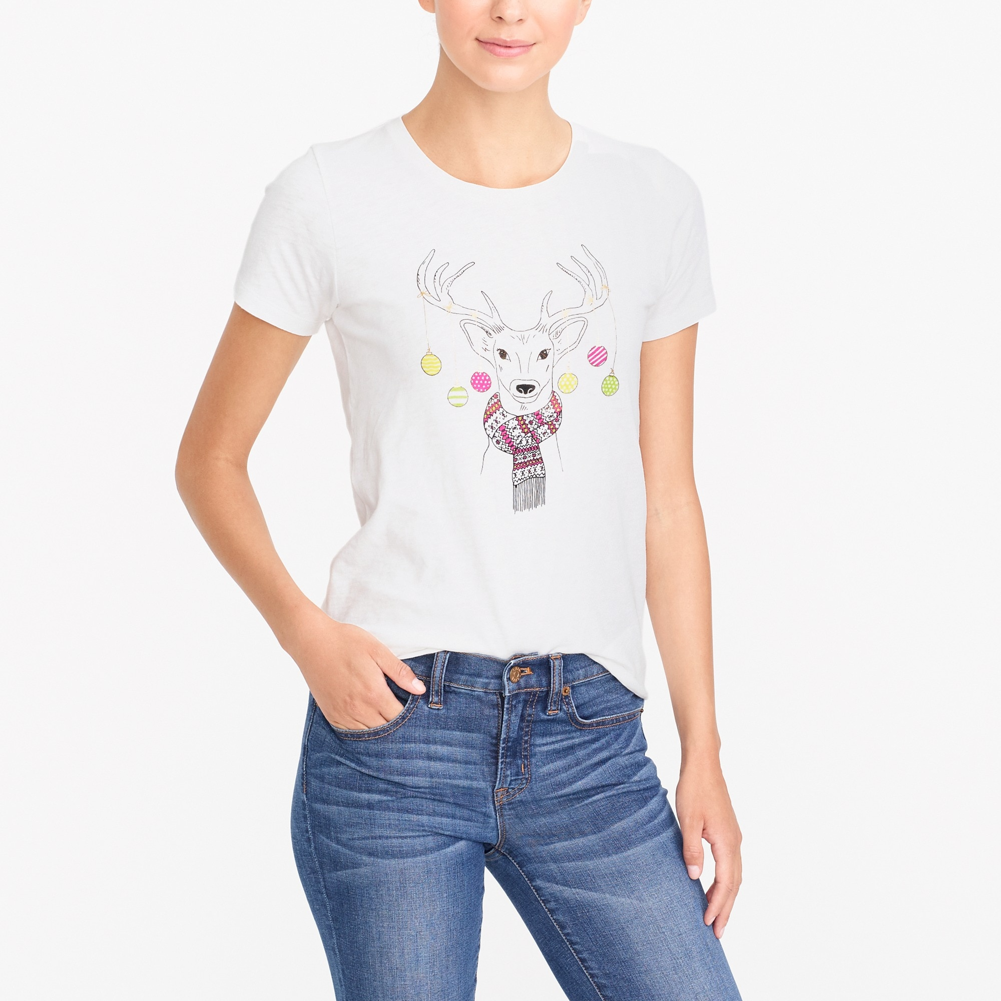 Image 1 for Deer in lights collector T-shirt