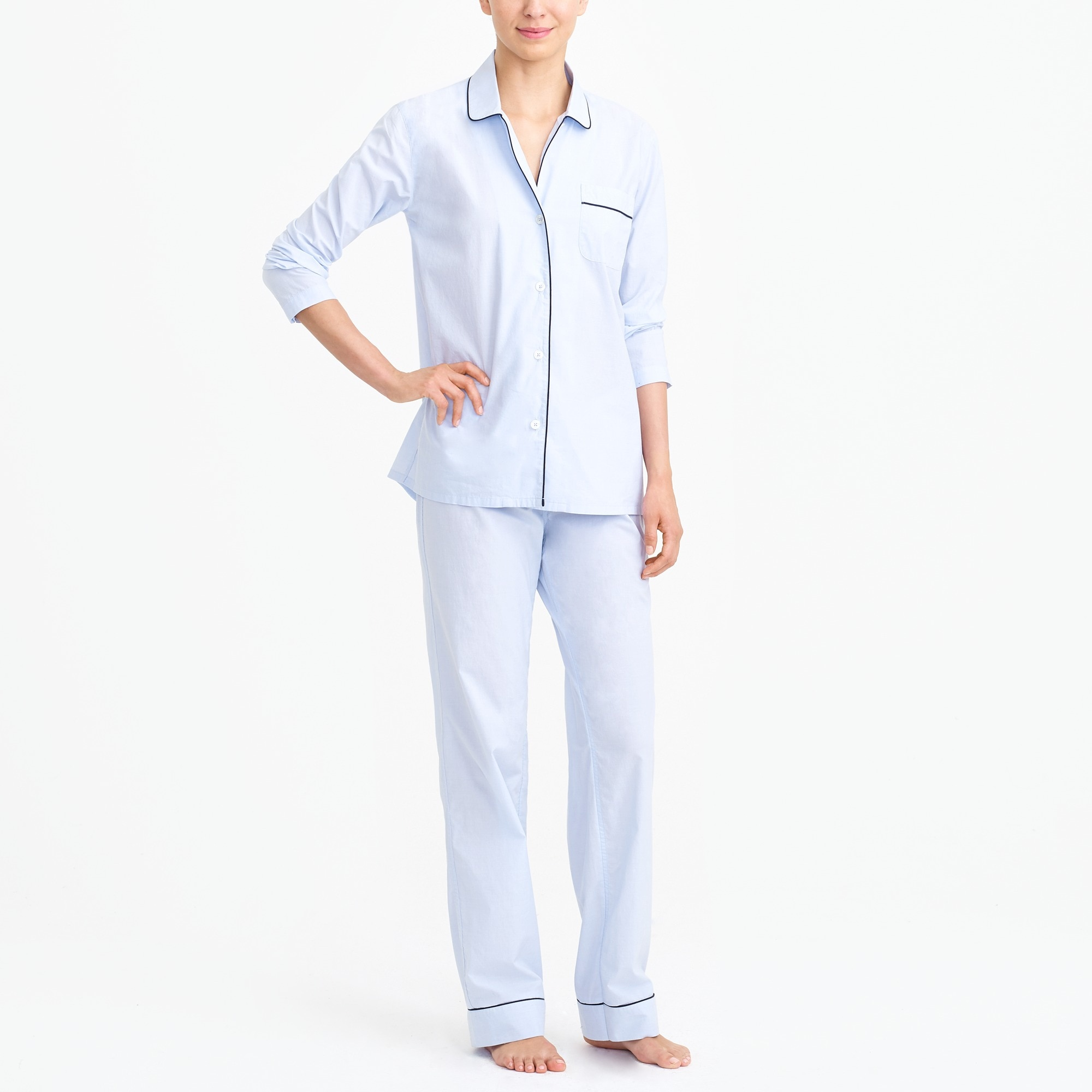 Long-sleeve end-on-end pajama set factorywomen pajamas c