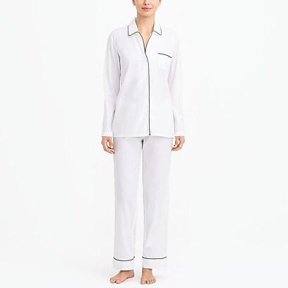 f40bbe6b8 factory womens Long-sleeve end-on-end pajama set