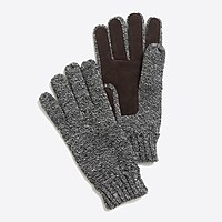 Image 1 for Marled suede gloves