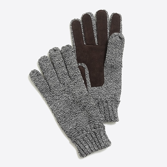 j.crew factory: marled suede gloves