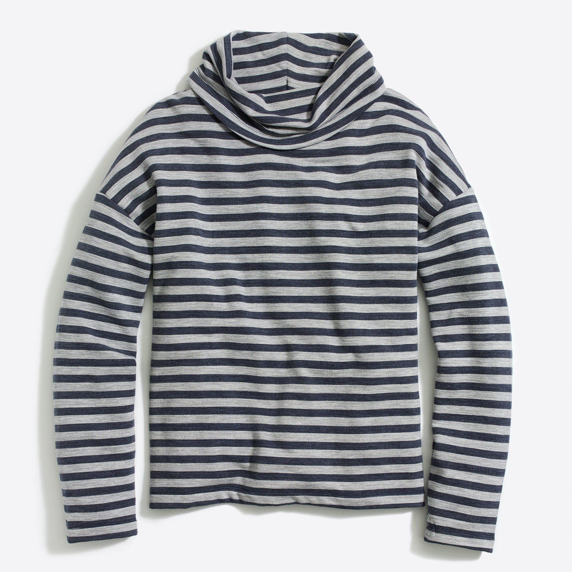 Image 1 for Striped tunnelneck pullover sweatshirt