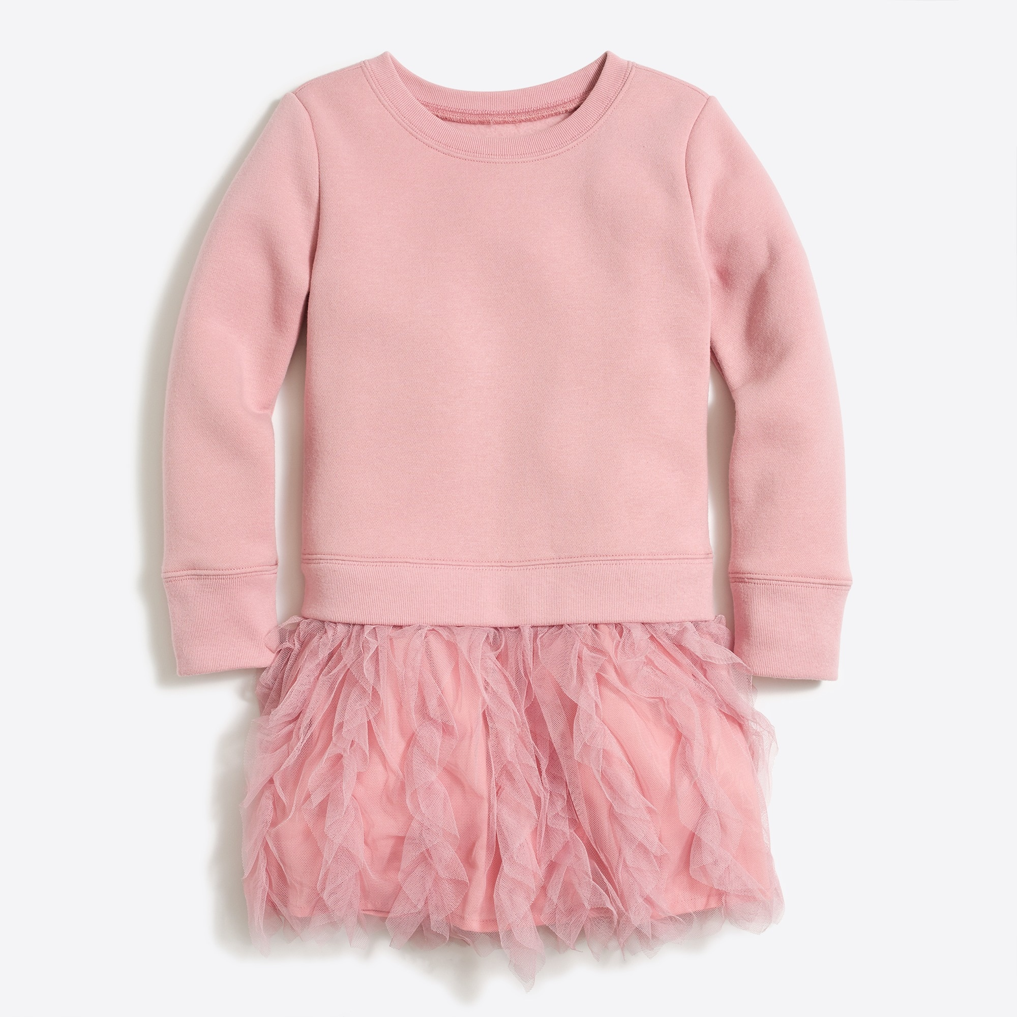 girls' ruffle tulle sweatshirt dress : factorygirls dresses