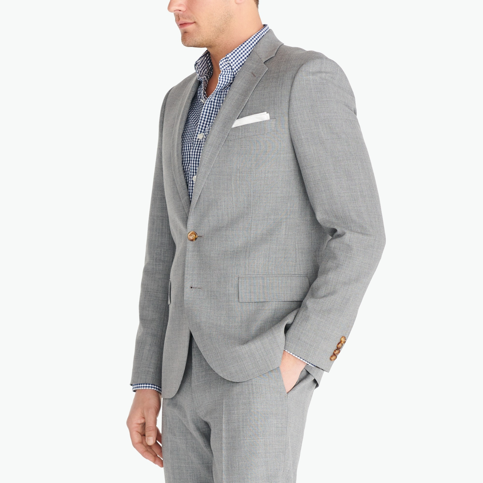 Classic-fit Thompson suit jacket in Voyager wool