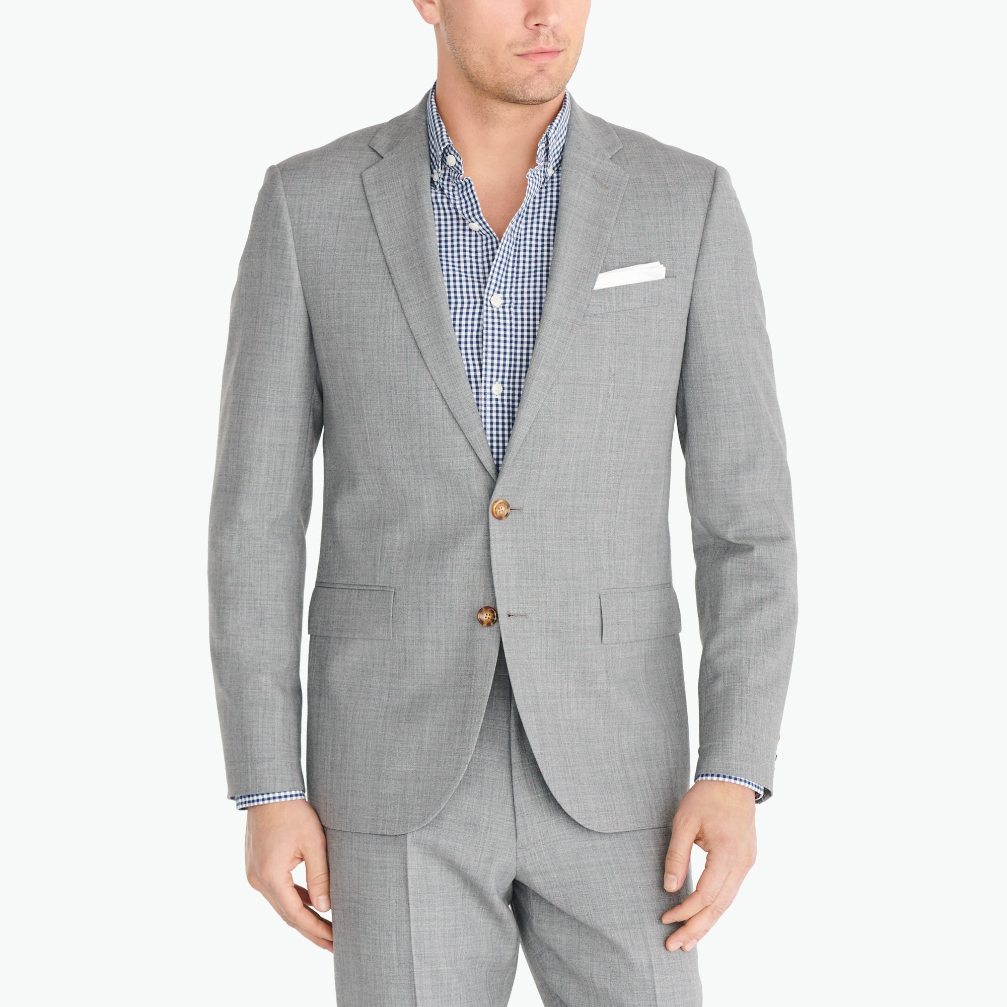 Classic-fit Thompson suit jacket in Voyager wool factorymen thompson suits & blazers c