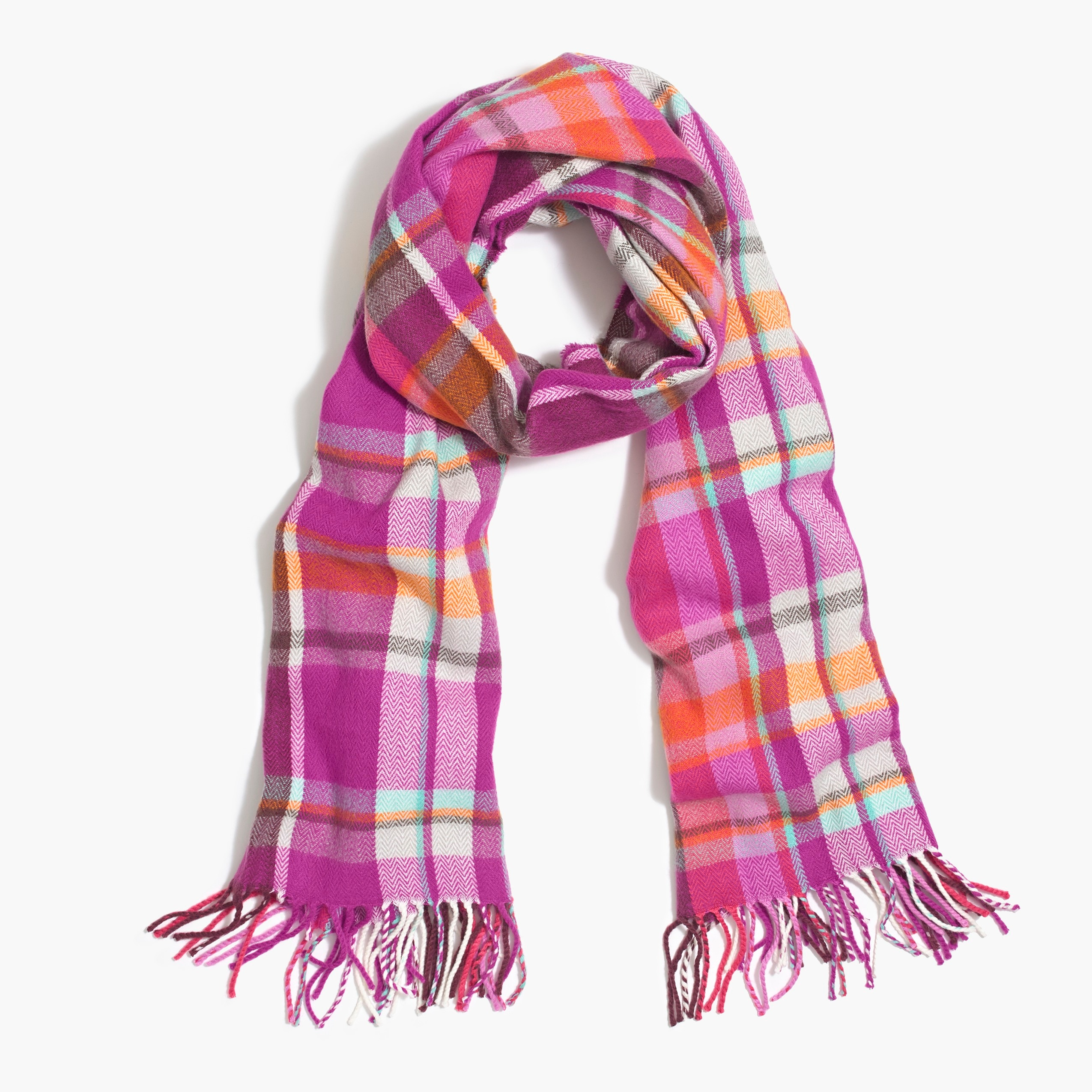 Image 1 for Classic plaid scarf