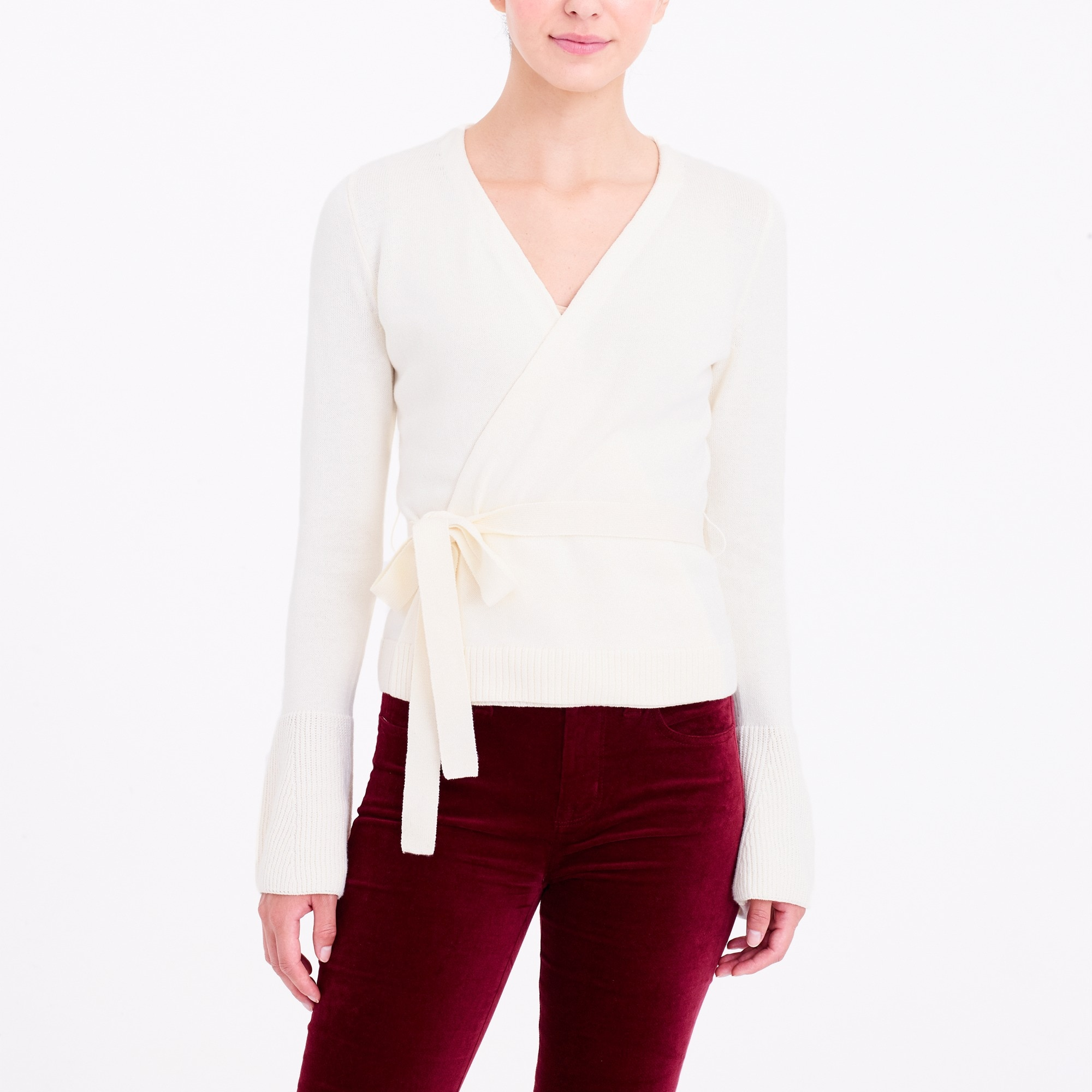 bell-sleeve wrap sweater : factorywomen cardigans
