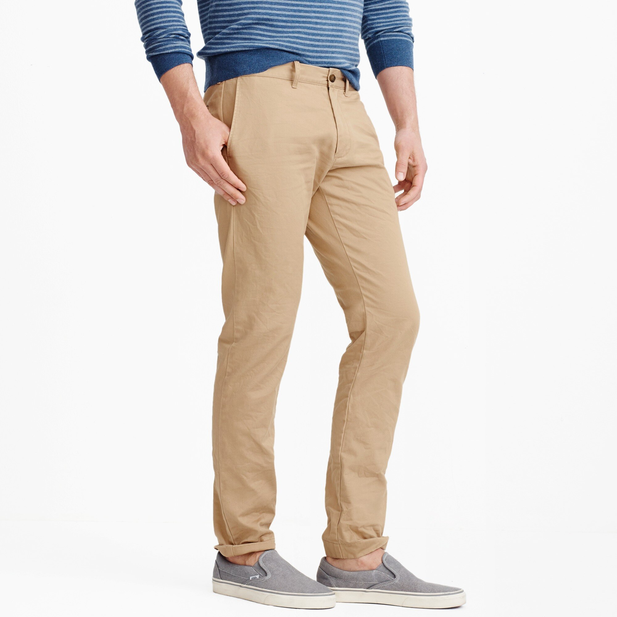 Slim-fit broken-in chino