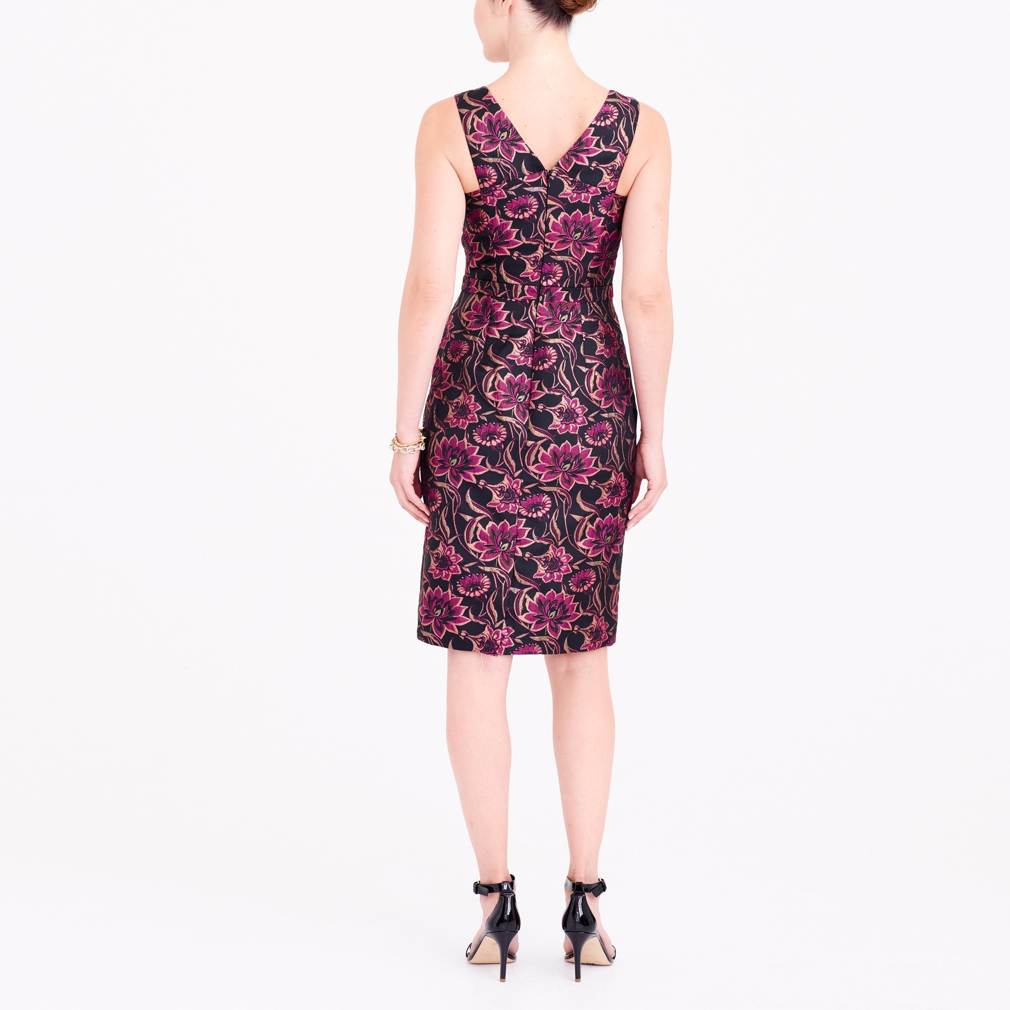 Image 3 for Jacquard V-neck dress