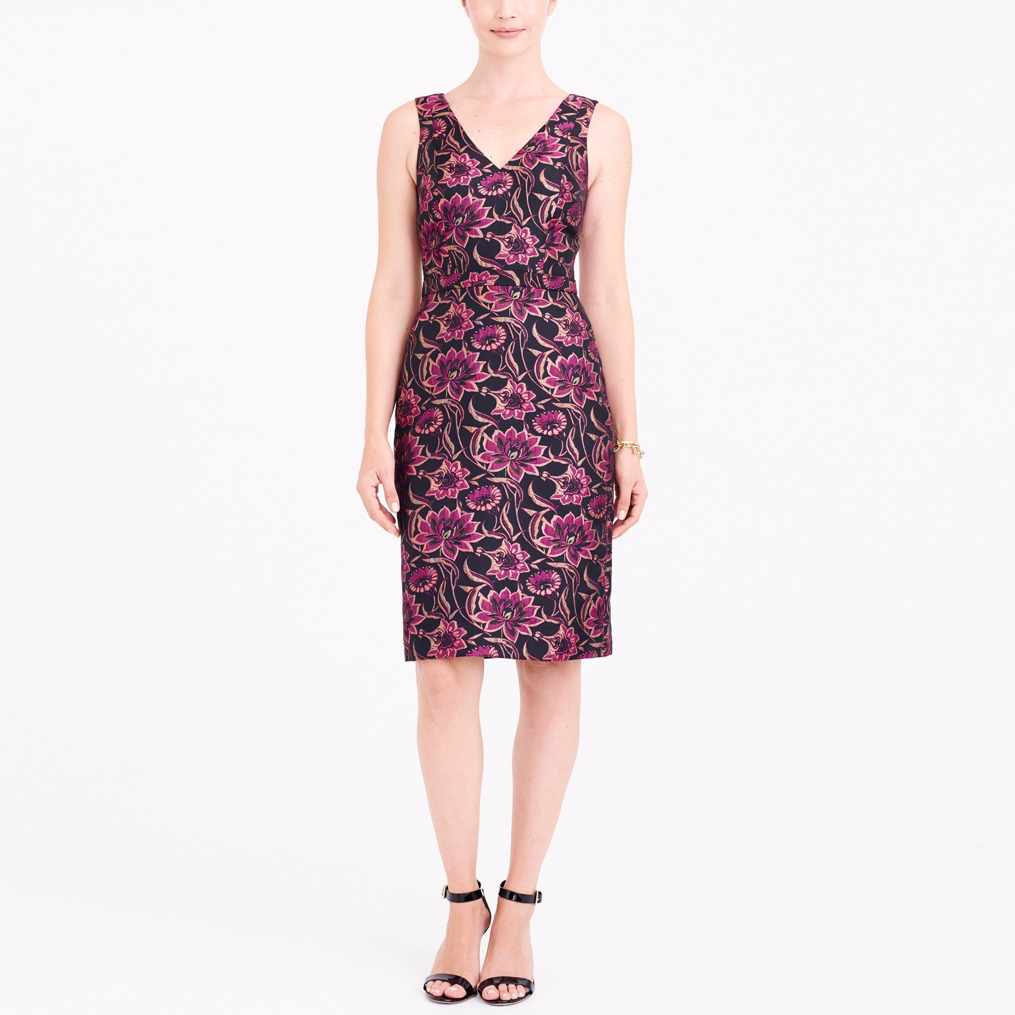 jacquard v-neck dress : factorywomen party dresses