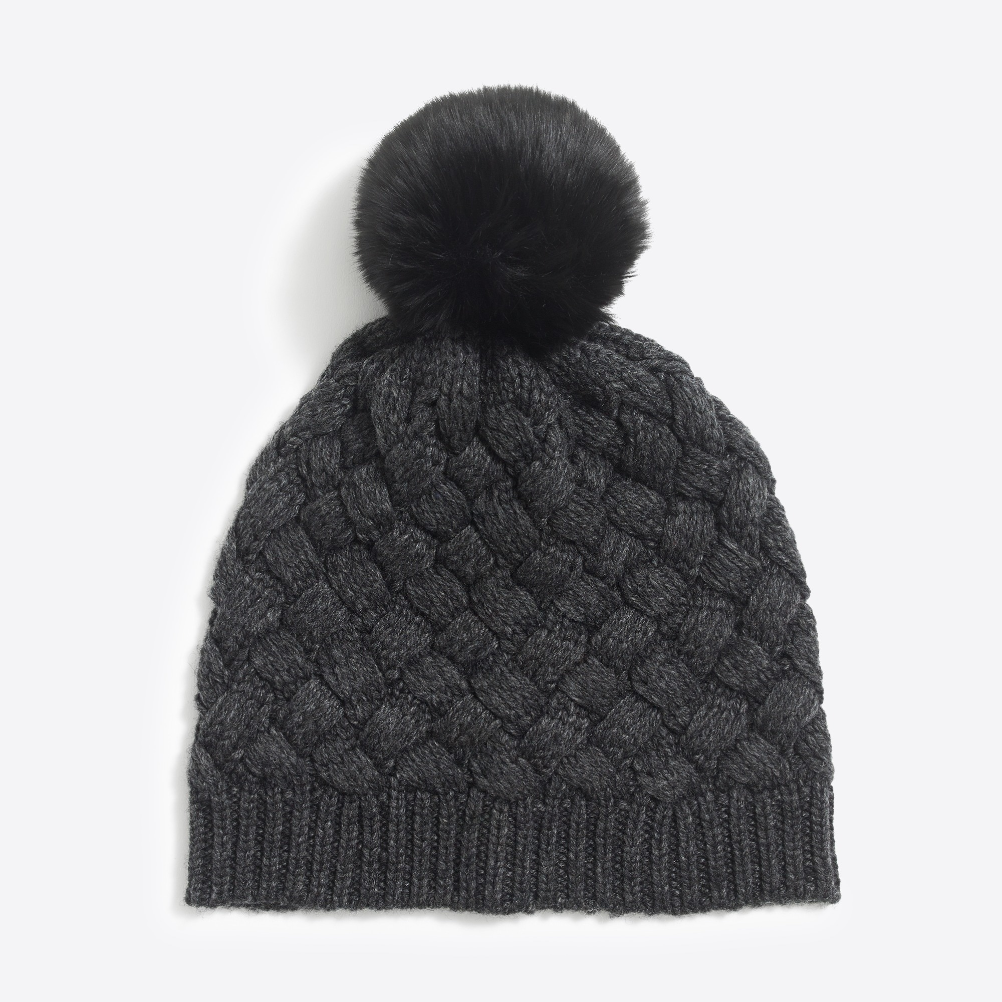 Image 2 for Faux-fur pom pom hat