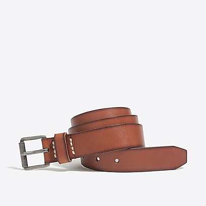 factory mens Washed leather roller belt