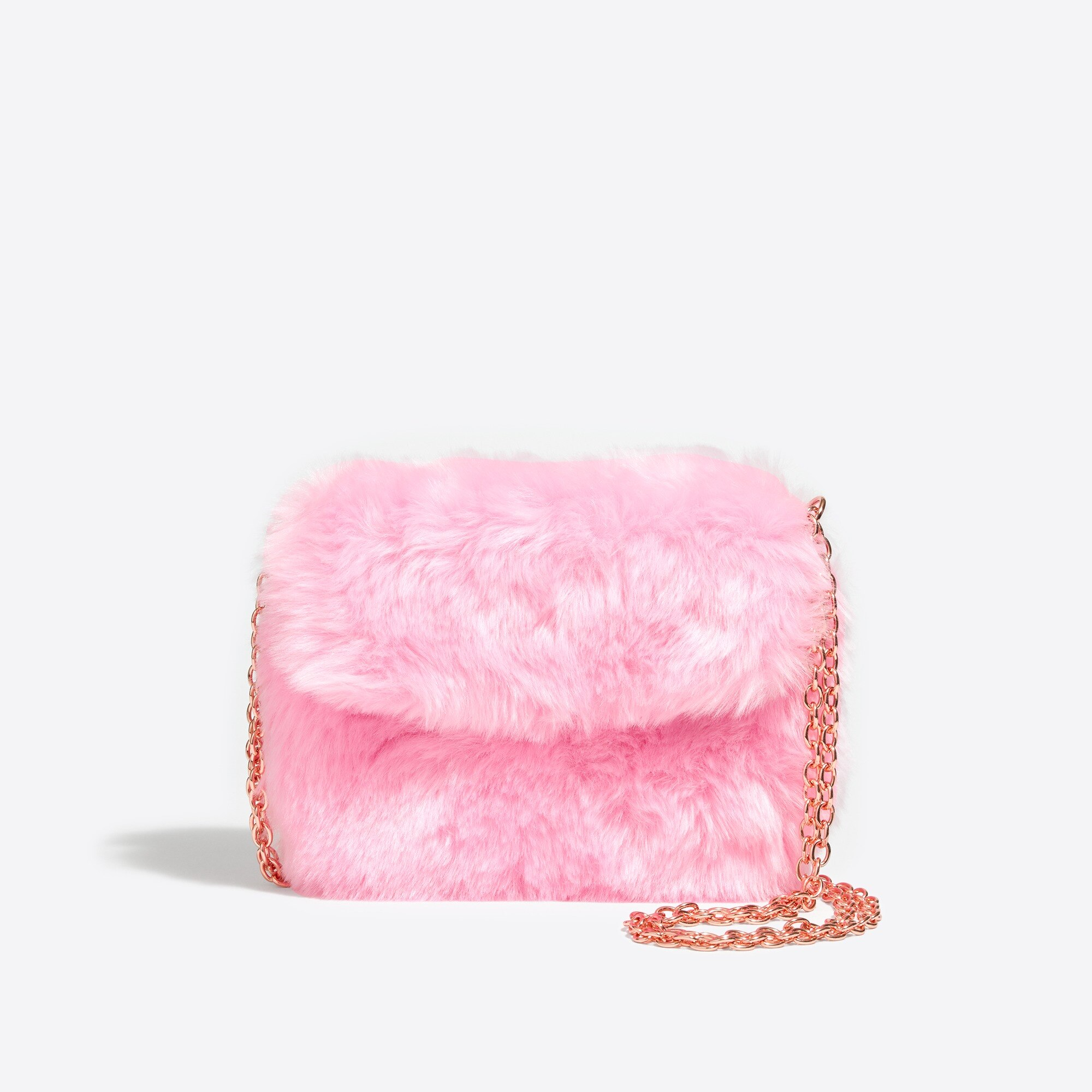 girls' pink faux fur bag : factorygirls bags